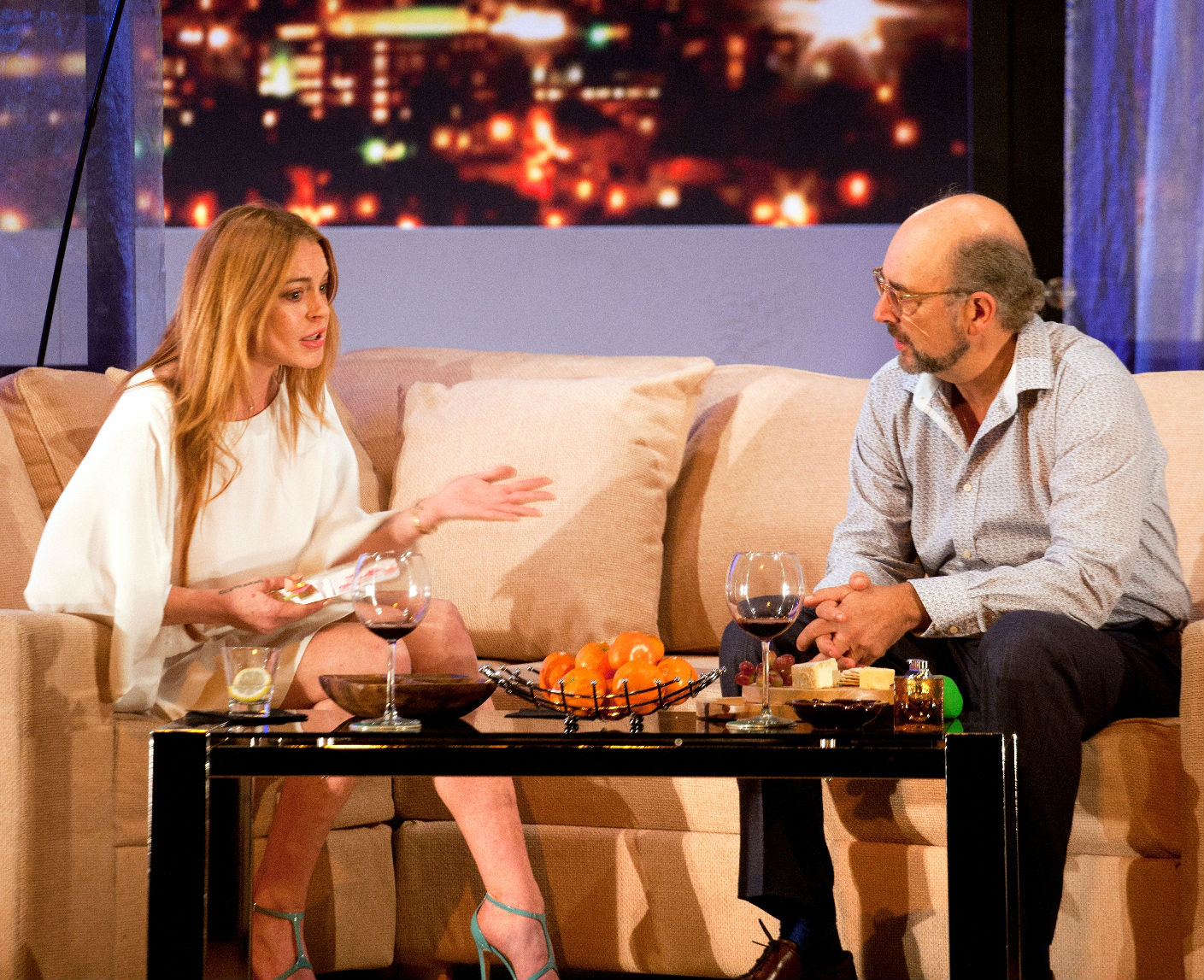 Lindsay Lohan and Richard Schiff in the London Playhouse production of  Speed-The-Plow