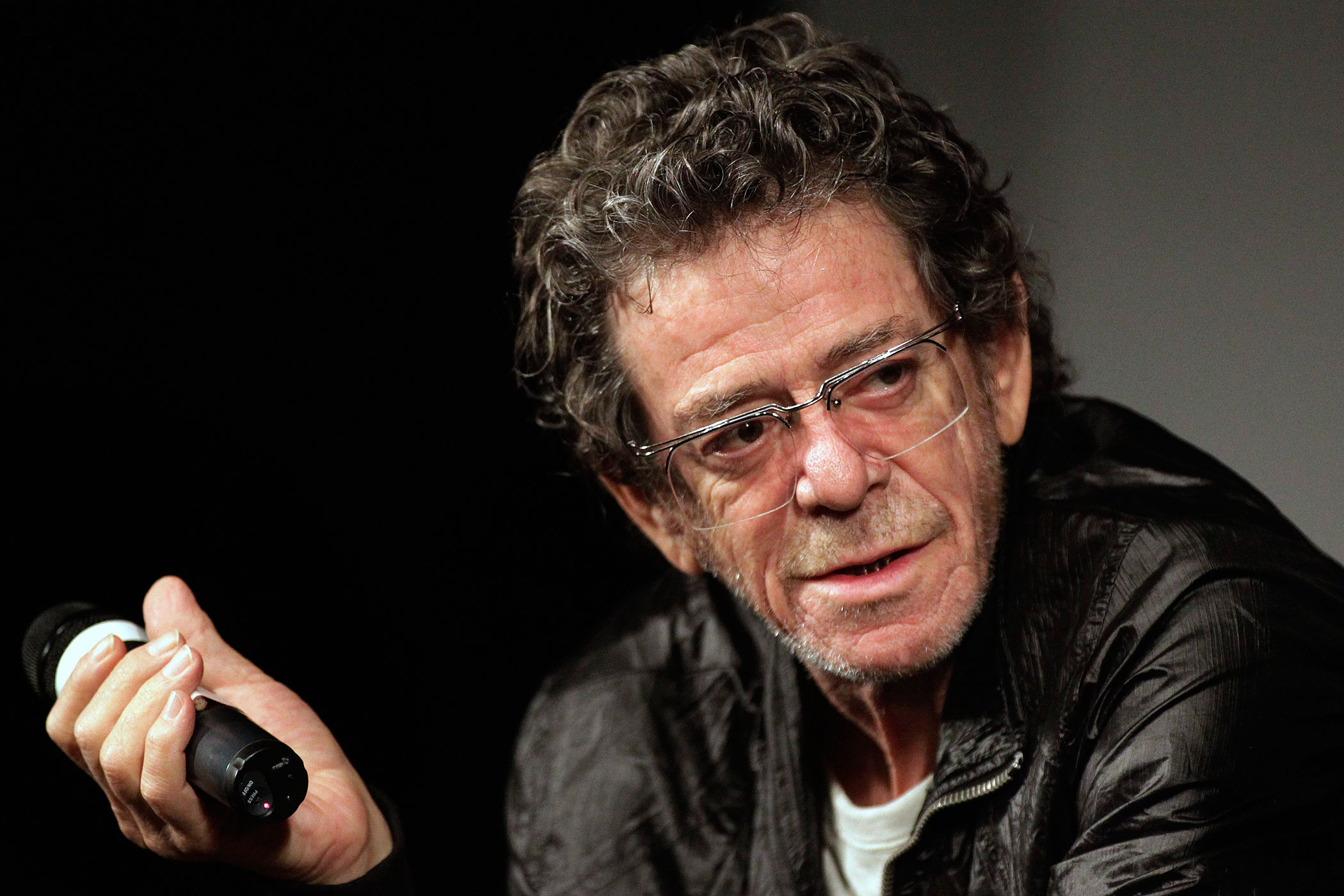 Lou Reed speaks about his film Red Shirley after its public screening at the festival Visons du Reel in Nyon, Switzerland, Tuesday, April 20, 2010.