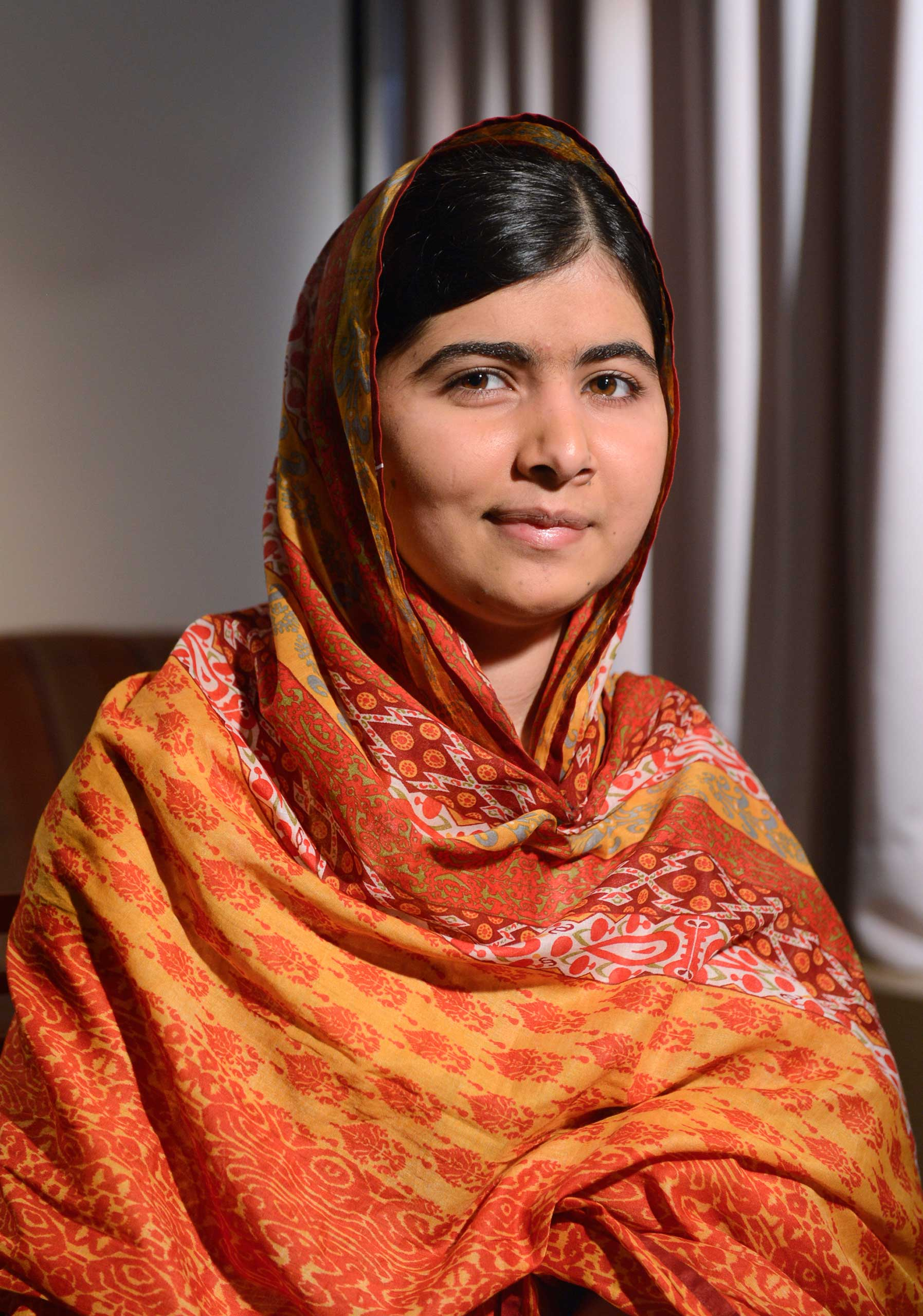 Pakistinian teenager and education activist Malala Yousafzai is interviewed on GOOD MORNING AMERICA, airing MONDAY, AUG. 18 (7:00-9:00am, ET) on the ABC Television Network. (Photo by Ida Mae Astute/ABC via Getty Images) MALALA YOUSAFZAI