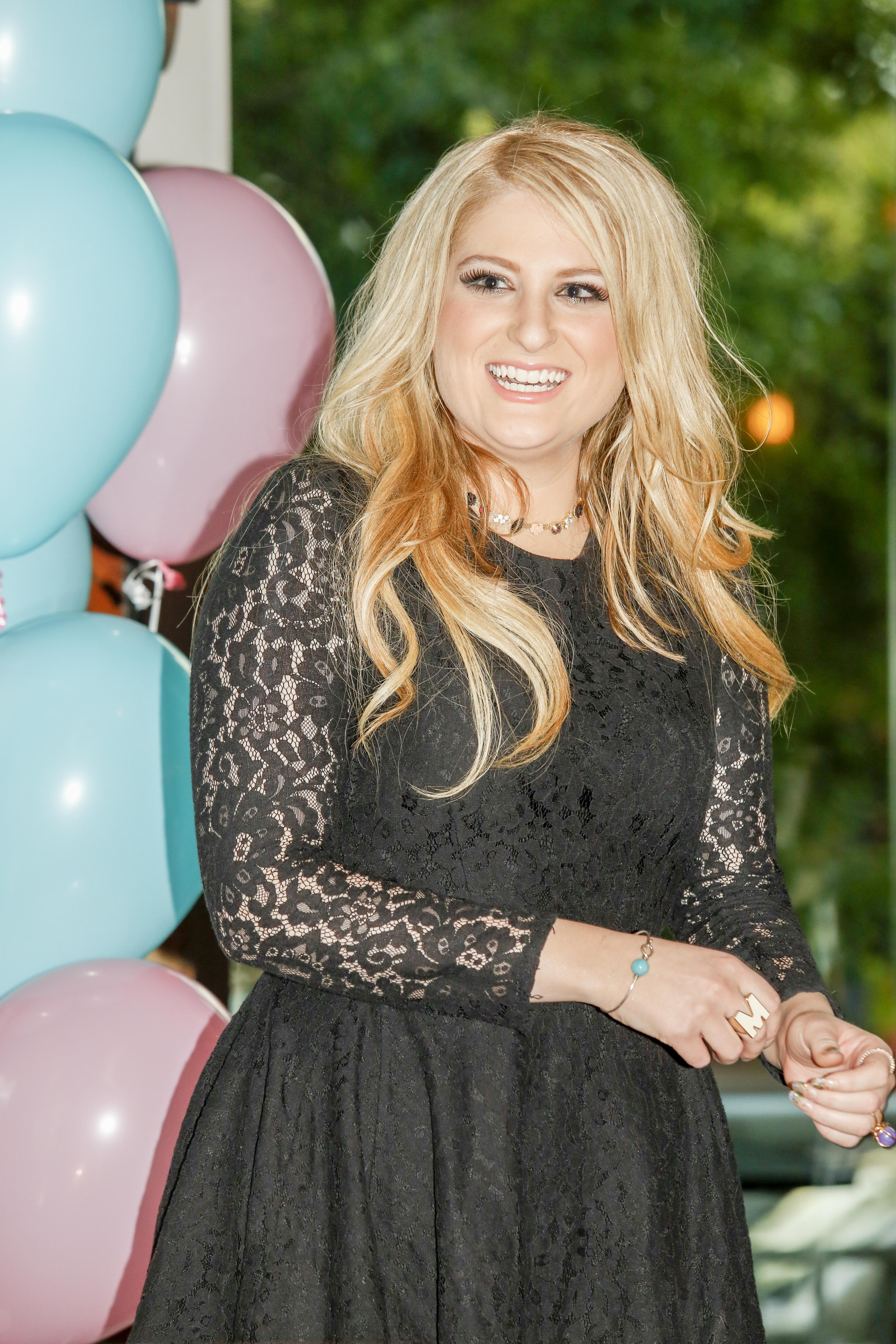 Meghan Trainor attends the  All About That Bass  #1 Party on October 14, 2014 in Nashville, Tennessee.