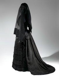 Mourning Ensemble, 1870-1872; Veil, ca. 1875