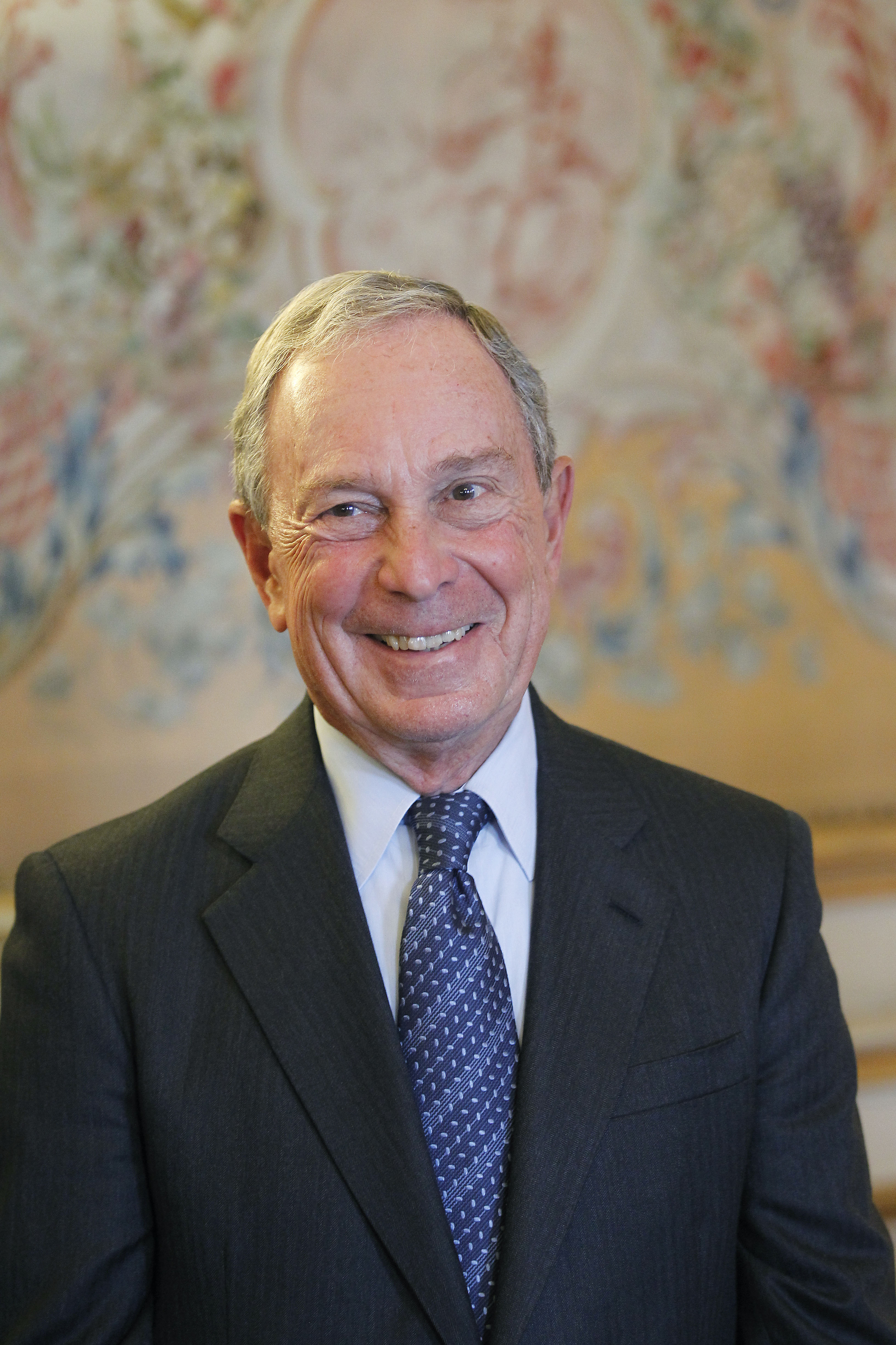 Former New York Mayor Michael Bloomberg poses prior to be awarded with the Legion d'Honneur by French Foreign Minister Laurent Fabius on Sept. 16, 2014 in Paris.