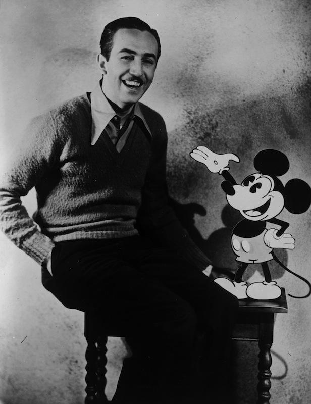 Walt Disney with  Mickey Mouse, circa 1935