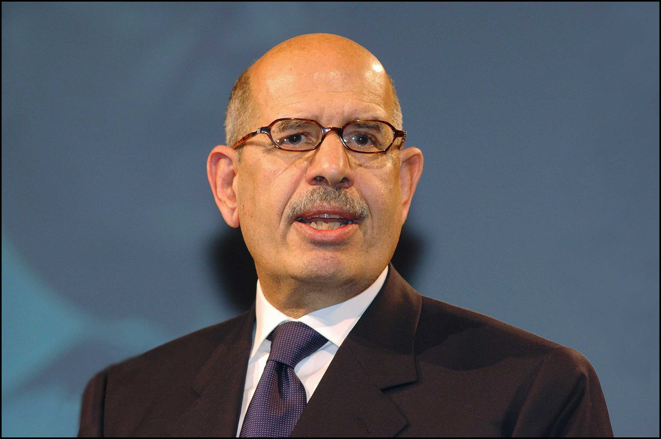 """<b>Mohamed ElBaradei, 2005</b>Shared with the International Atomic Energy Agency (IAEA) """"for their efforts to prevent nuclear energy from being used for military purposes and to ensure that nuclear energy for peaceful purposes is used in the safest possible way"""""""