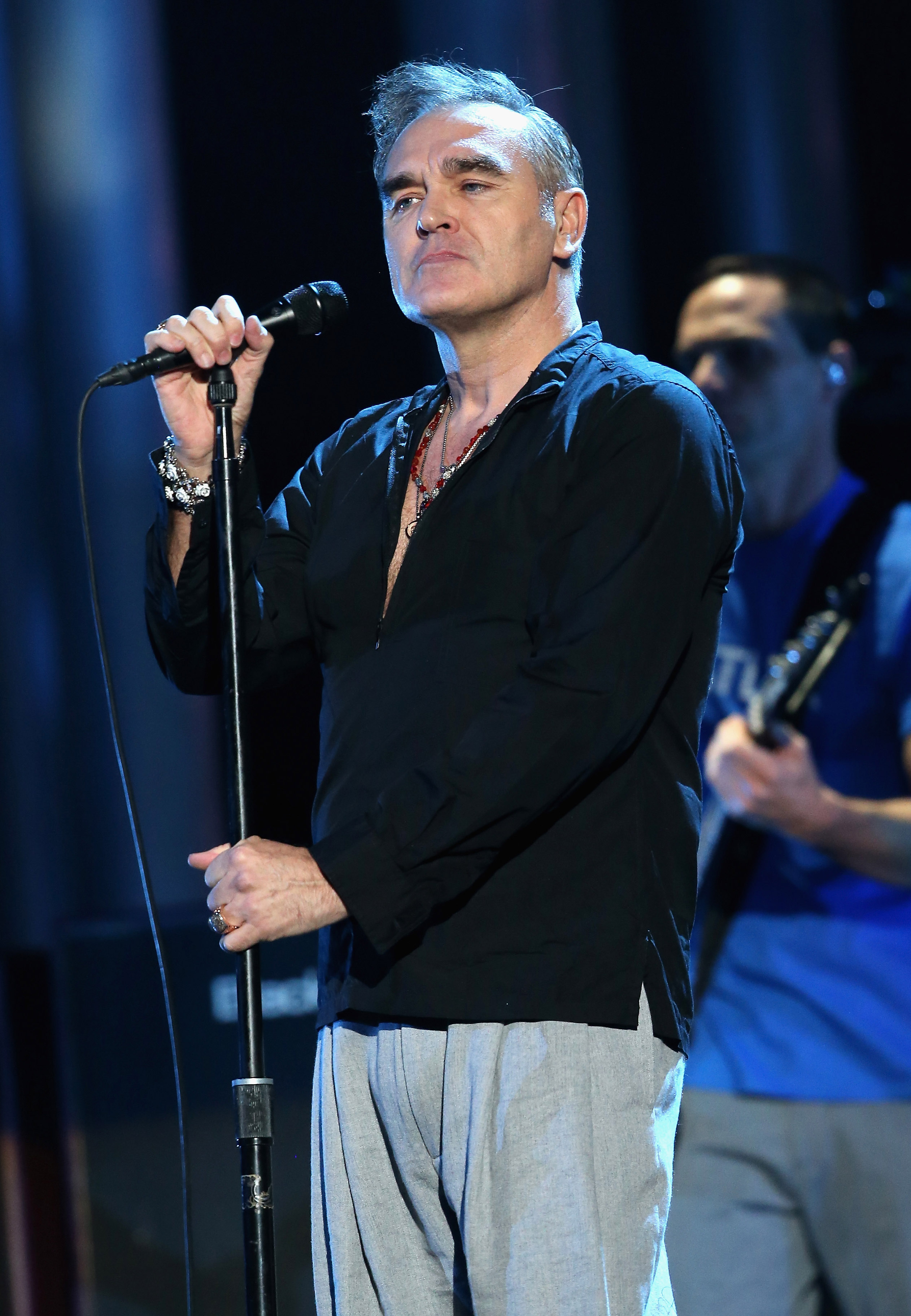 Singer Morrissey performs on stage during the 20th annual Nobel Peace Prize Concert at the Oslo Spektrum on Dec. 11, 2013 in Oslo.