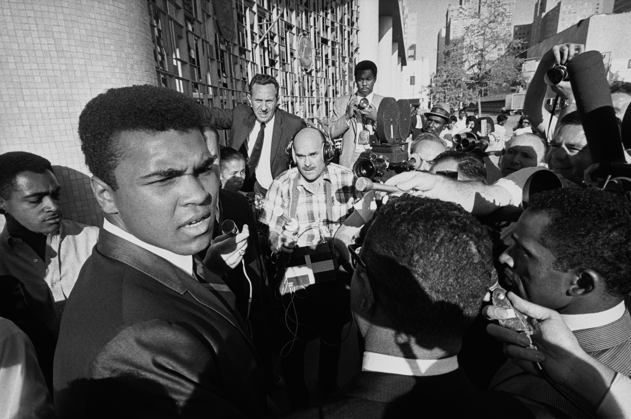 Ali leaves a federal court in Houston after a jury found him guilty on charges of refusing to be inducted into the U.S. armed forces on June 20, 1967. Ali contended that he was a Nation of Islam minister and not subject to the draft.