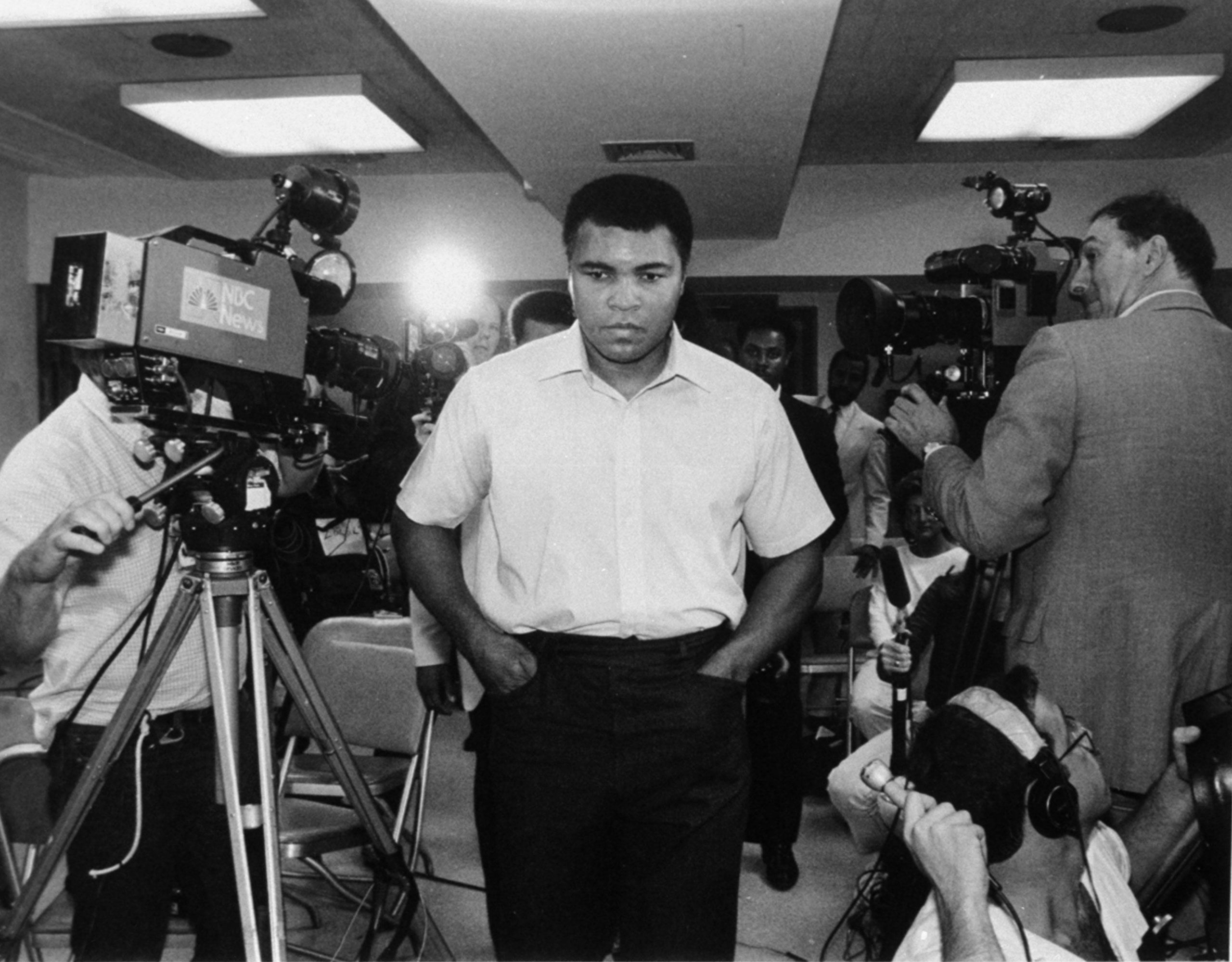 Ali was diagnosed with Parkinson's disease in 1984. He is pictured here at a hospital in New York City on Sept. 21, 1984, following four days of tests.  Ali said,  I'm always tired,  following his diagnosis.