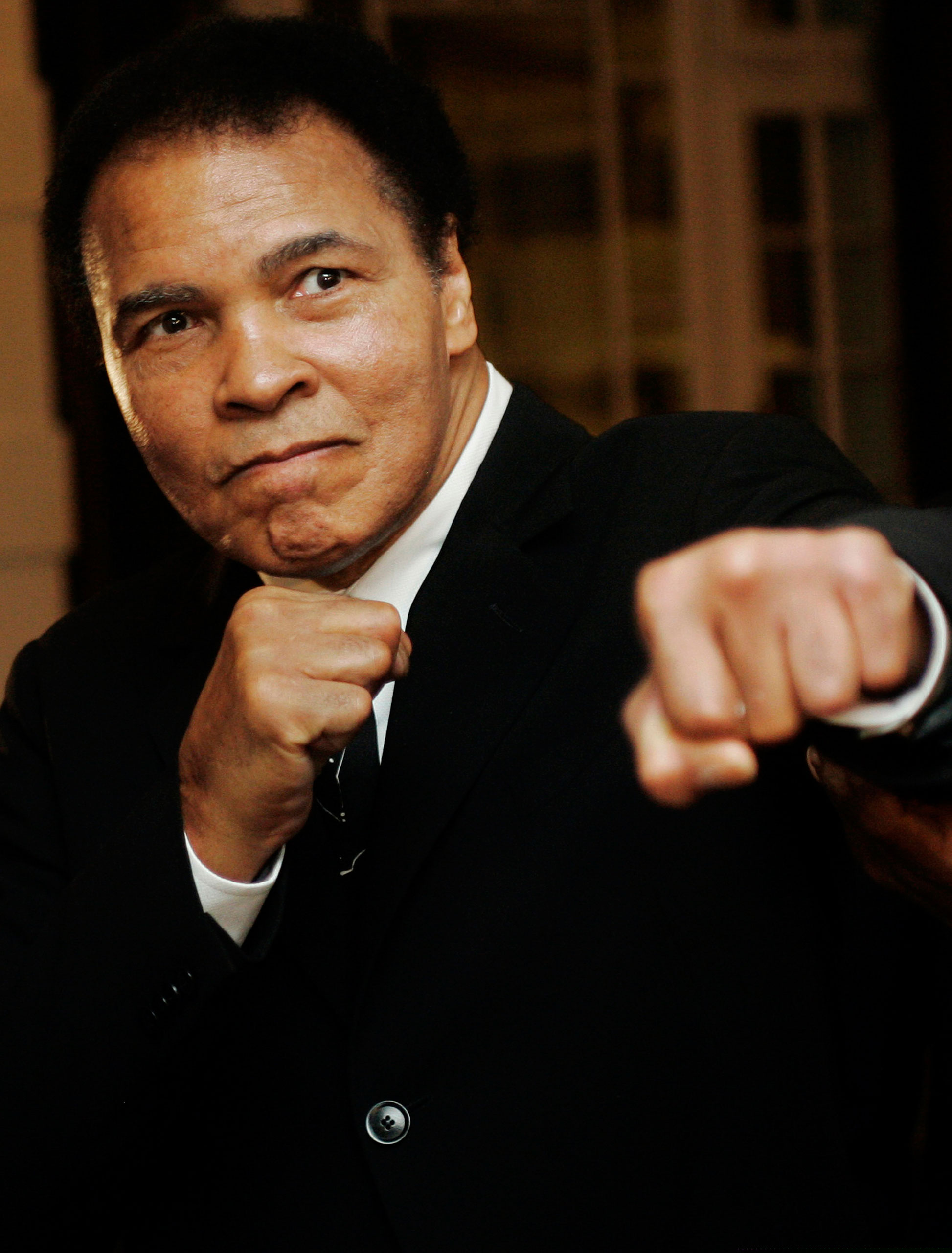 Muhammad Ali at the Crystal Award ceremony at the World Economic Forum in Davos, Switzerland, on Jan. 28, 2006.