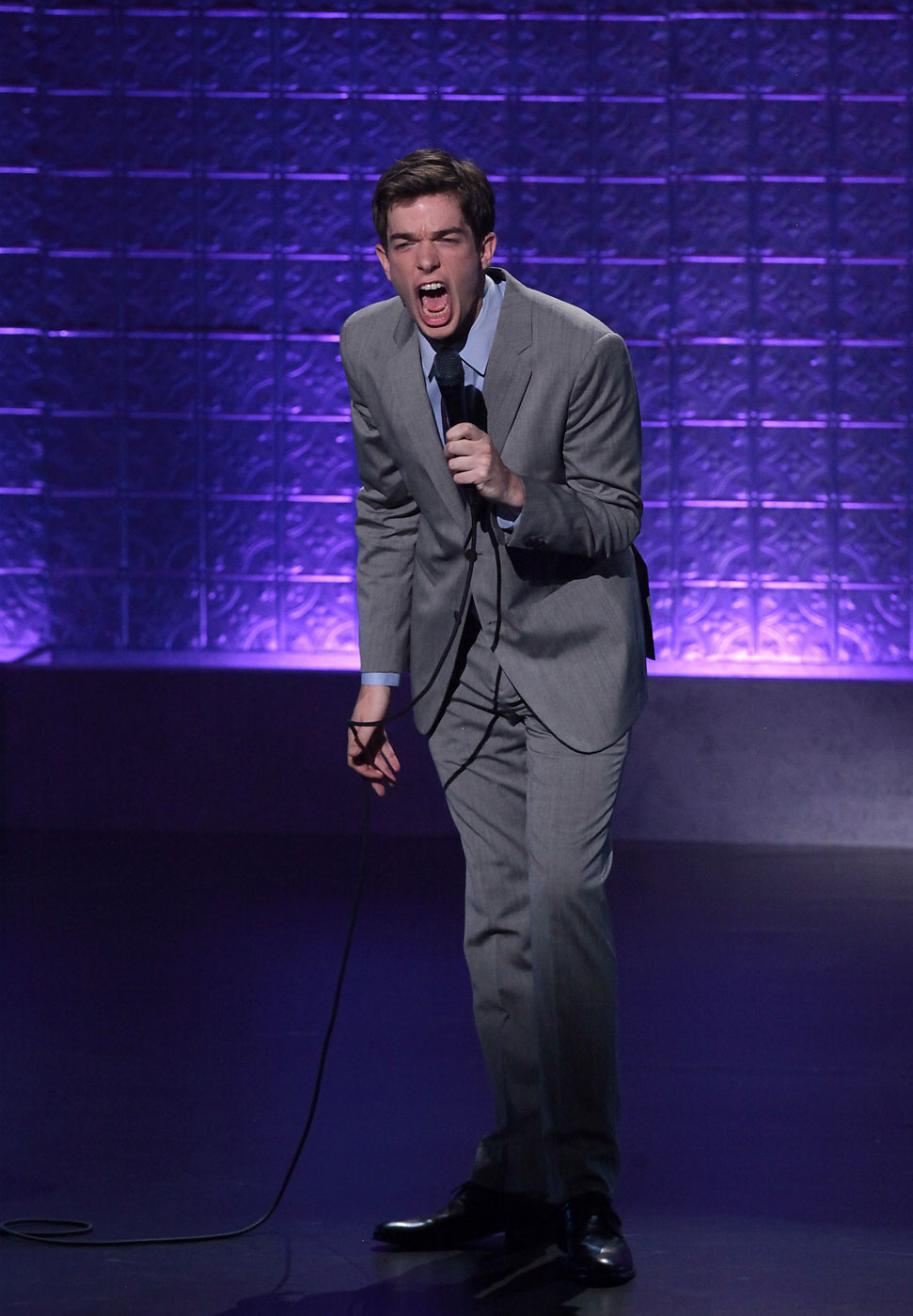 Mulaney has done two major comedy specials:  The Top Part  (2009) and  New In Town  (2012 —pictured above).  Both earned critical acclaim and established him as a comic's comic.