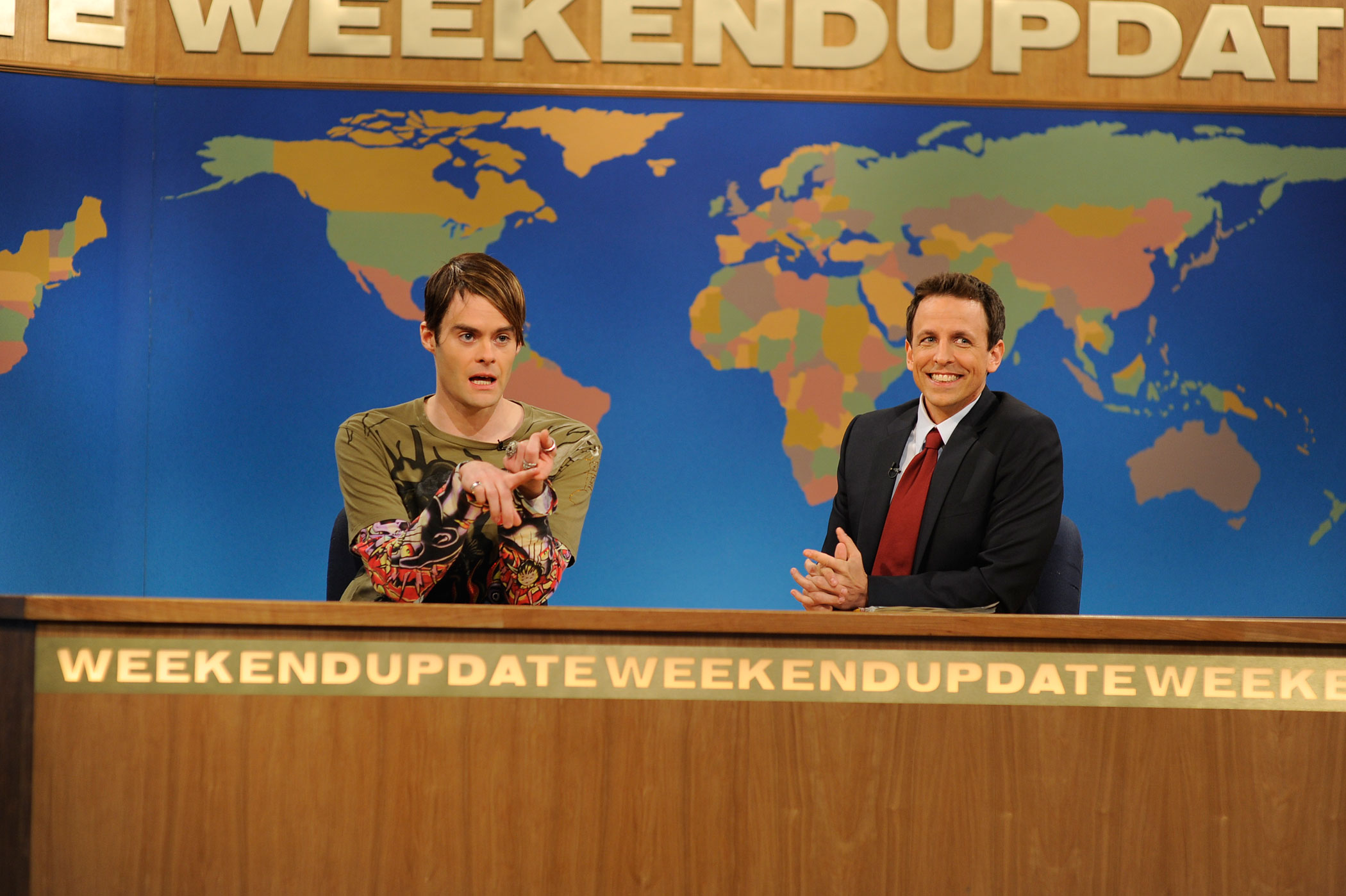 Mulaney's best-known bit isn't even one that he performs himself. He and Bill Hader co-created Saturday Night Live's  Stefon  character. Mulaney was a writer on the show for six seasons.