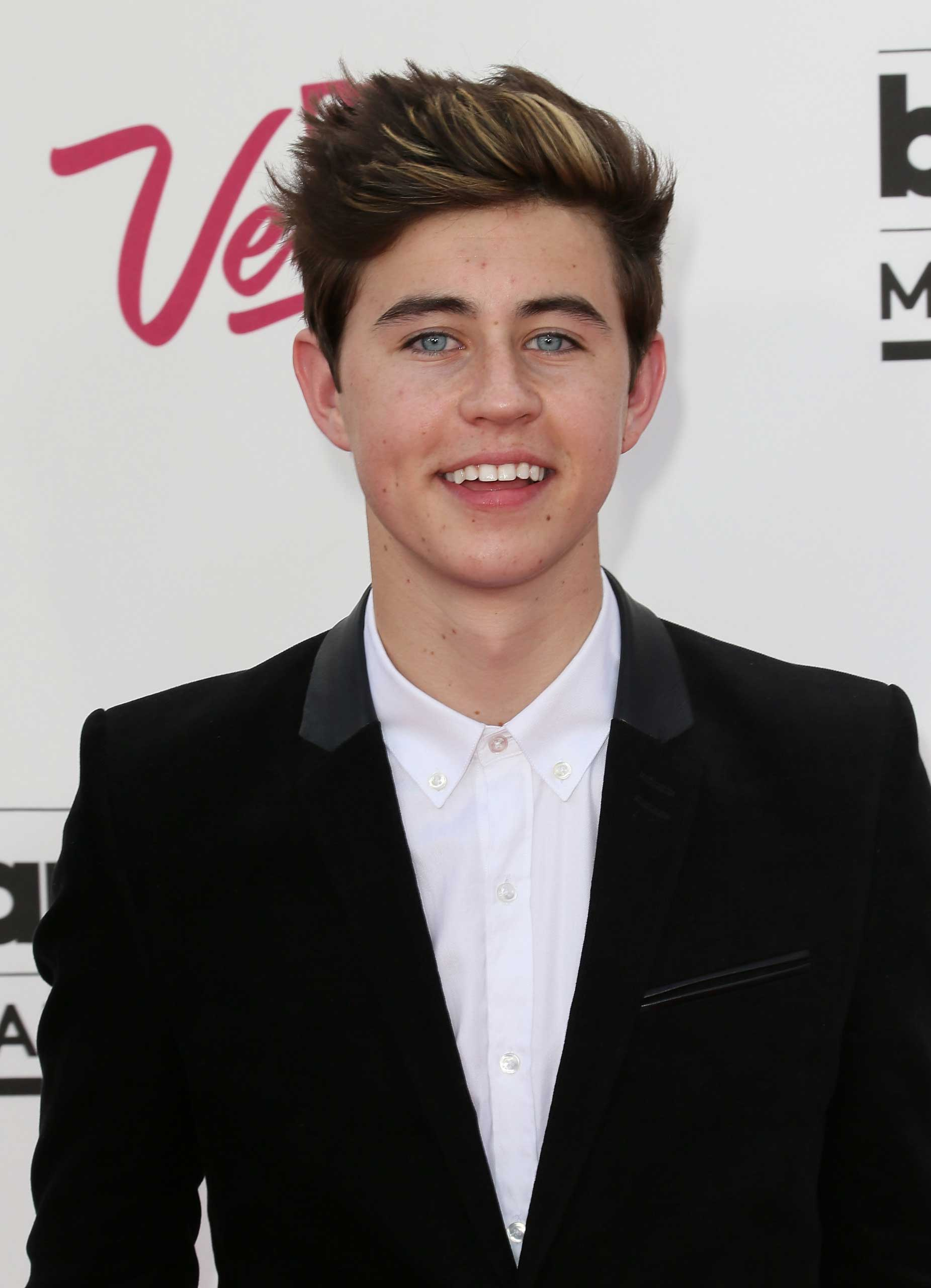 Vine star Nash Grier attends the 2014 Billboard Music Awards at the MGM Grand Garden Arena on May 18, 2014 in Las Vegas, Nevada. (Photo by David Livingston/Getty Images)