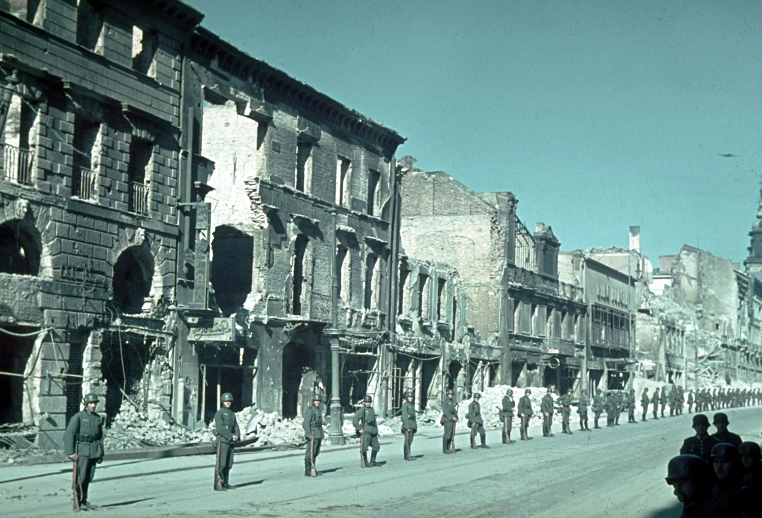 German troops prepare for victory parade after the invasion of Poland, 1939.