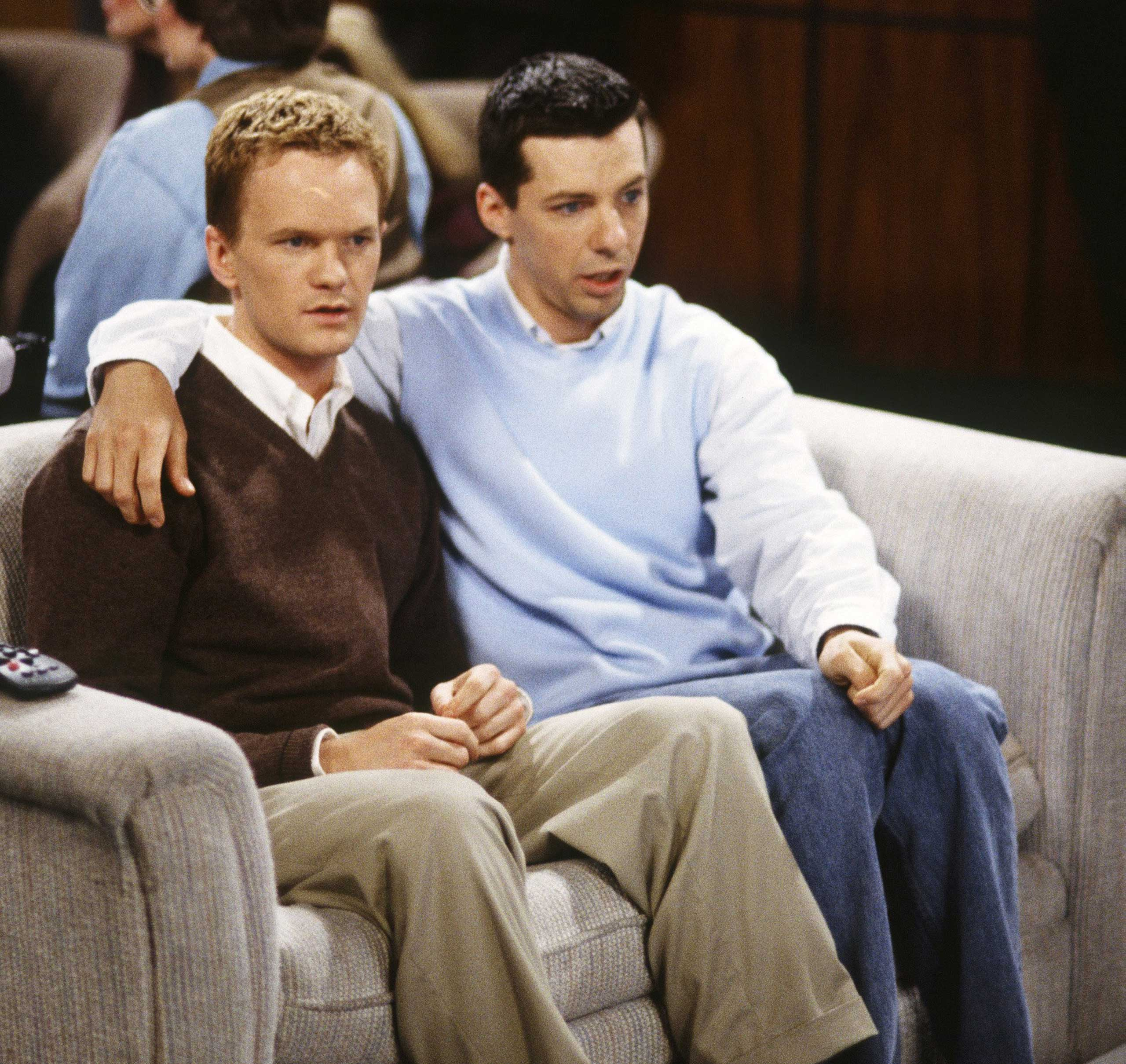 Jack pursues Harris' self-proclaimed  ex-gay man  on Will and Grace in 2000.
