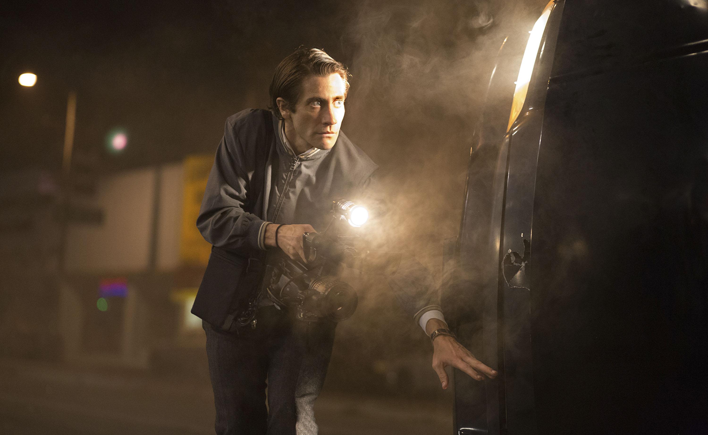 Jake Gyllenhaal stars as Louis Bloom in Nightcrawler.