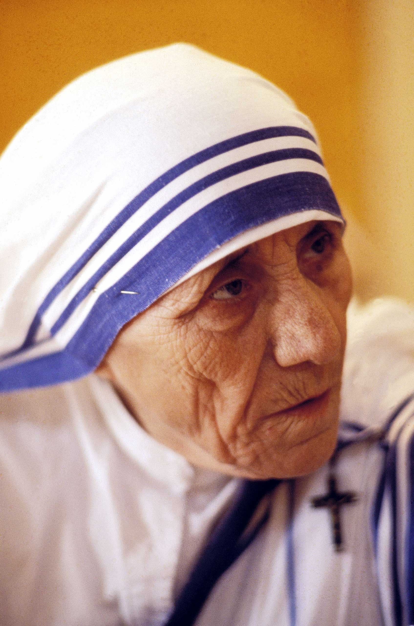 """<b>Mother Teresa, 1979</b>""""The loneliest, the most wretched and the dying have, at her hands, received compassion without condescension, based on reverence for man"""""""