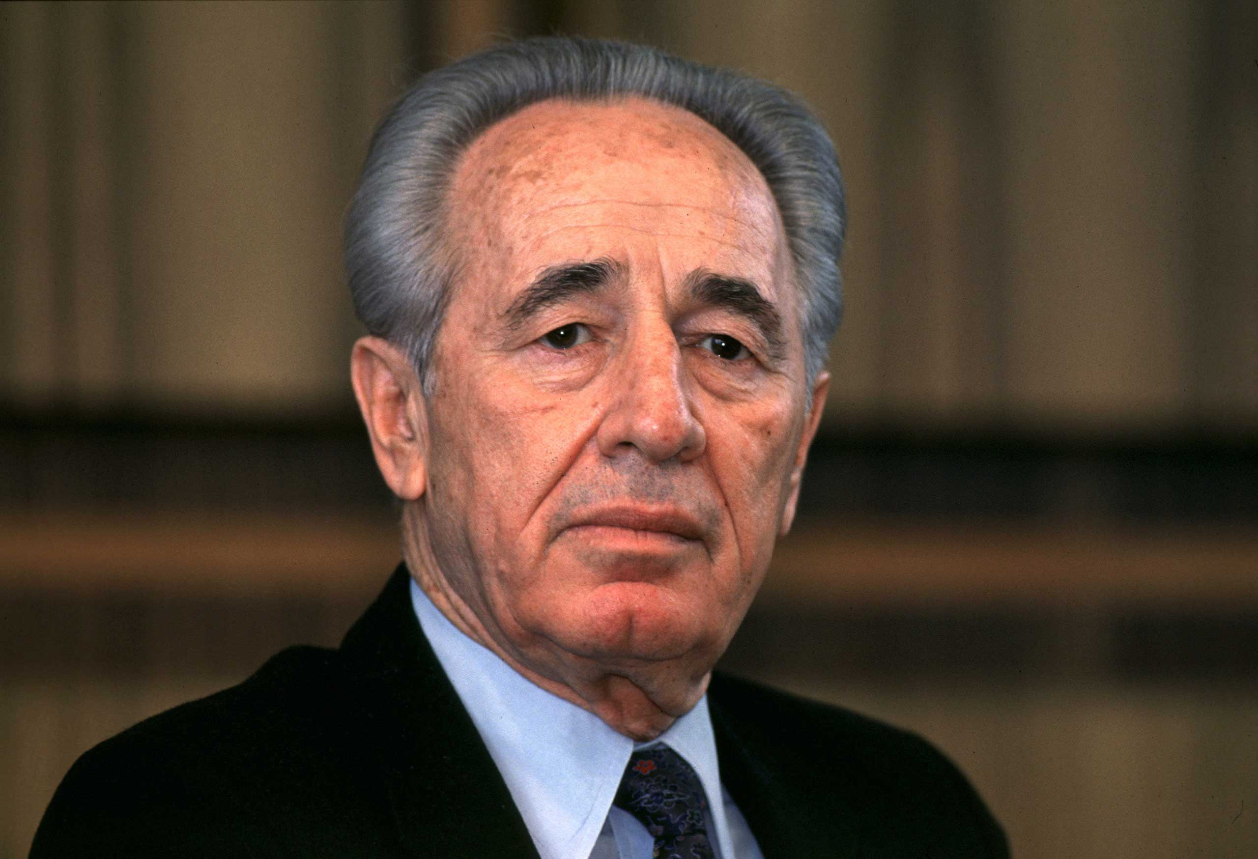 """<b>Shimon Peres, 1994</b>""""To honour a political act which called for great courage on both sides, and which has opened up opportunities for a new development towards fraternity in the Middle East"""""""