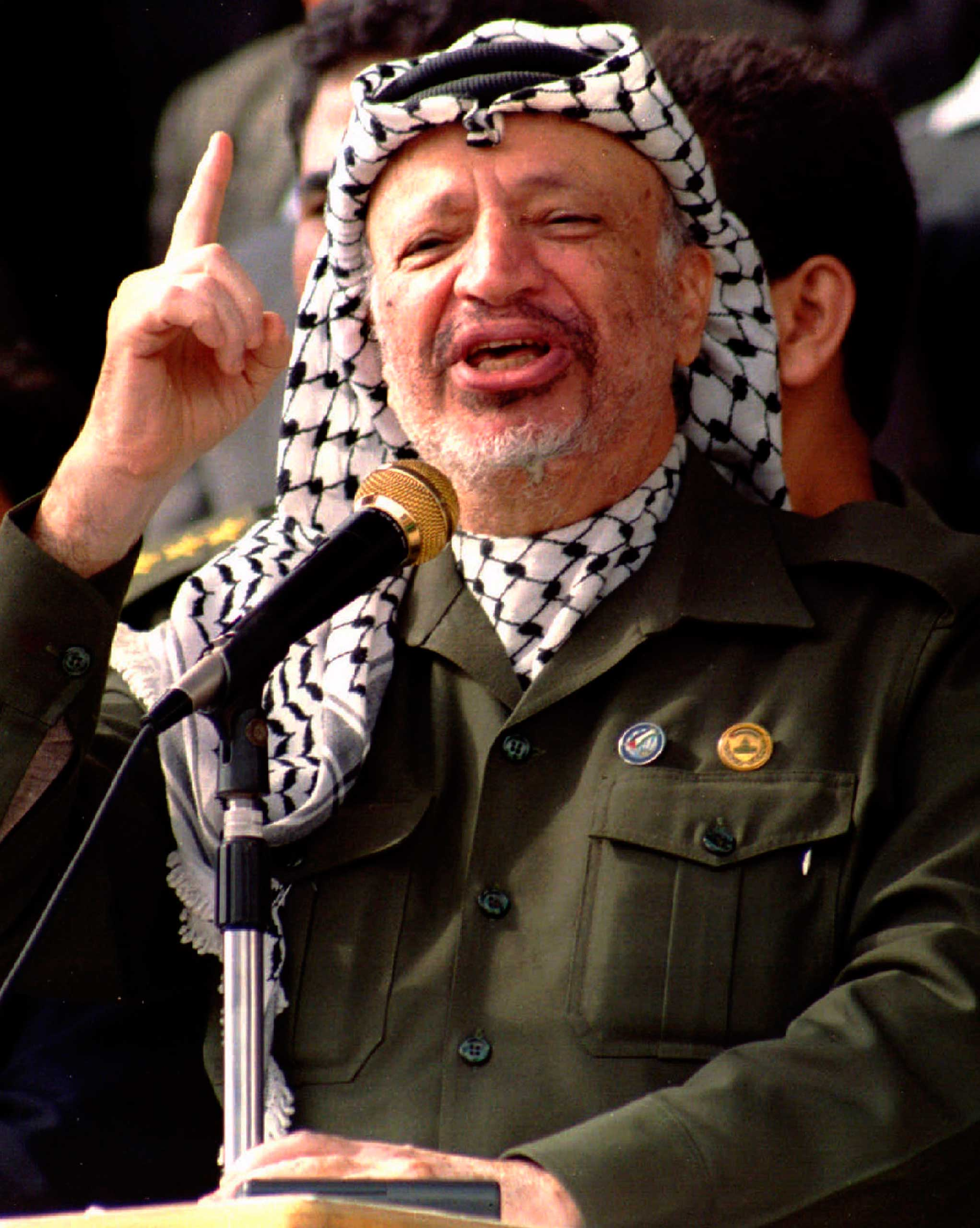 """<b>Yasser Arafat, 1994</b>""""To honour a political act which called for great courage on both sides, and which has opened up opportunities for a new development towards fraternity in the Middle East"""""""