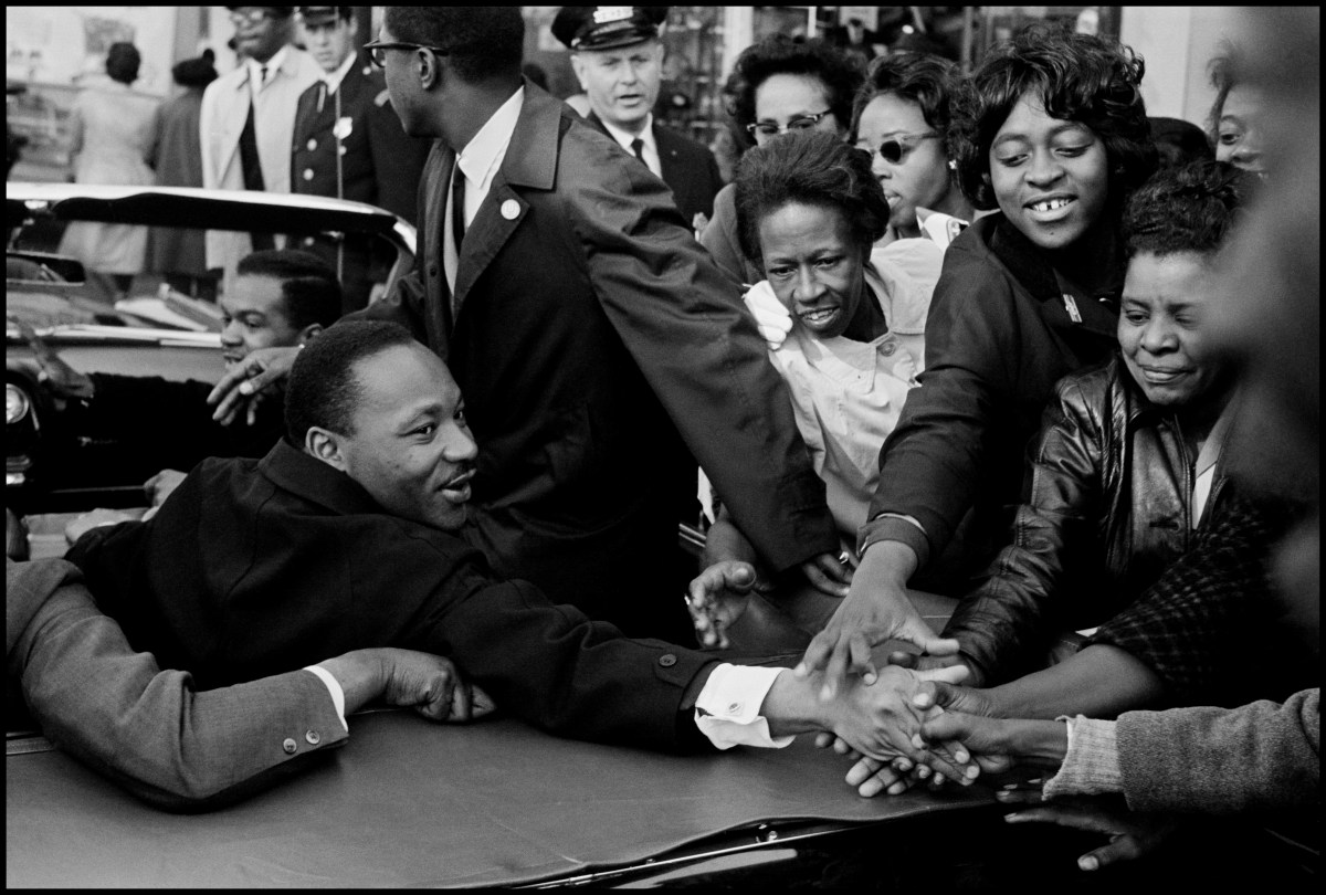 USA. Baltimore, MD. October 31, 1964. Dr. Martin Luther King, Jr. being greeted on his return to the US after receiving the Nobel Peace Prize.
