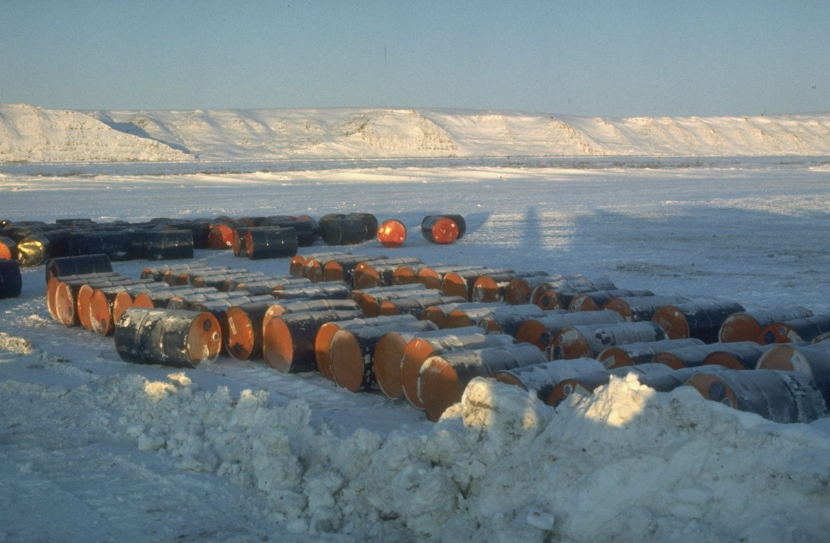 The North slope oil rush in Alaska, circa 1969