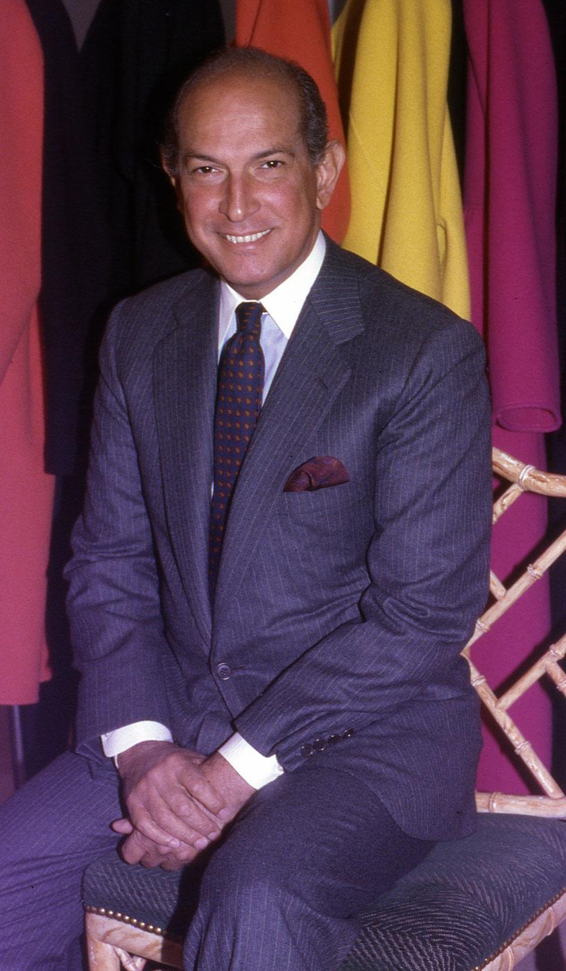 Oscar de la Renta in his studio in the Garment District in New York City in 1988.