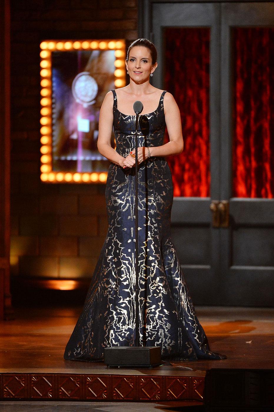 Tina Fey wears Oscar de la Renta during the 68th Annual Tony Awards at Radio City Music Hall on June 8, 2014 in New York City.