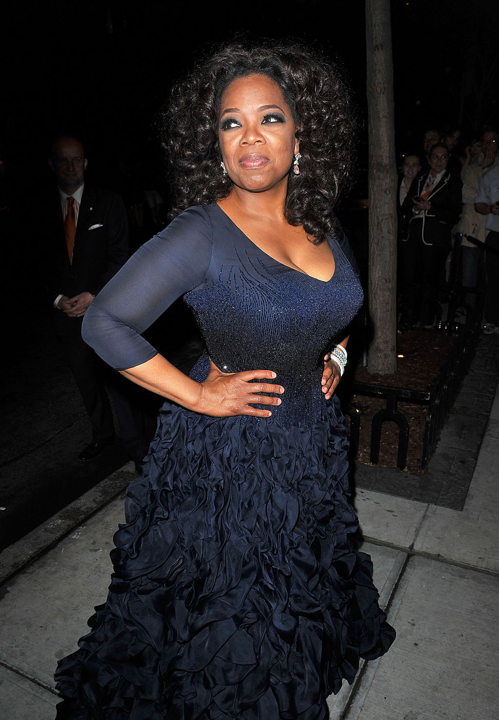 Oprah Winfrey wears Oscar de la Renta  to the Metropolitan Museum of Art's Costume Institute Gala after party at the Mark Hotel on May 3, 2010 in New York City.