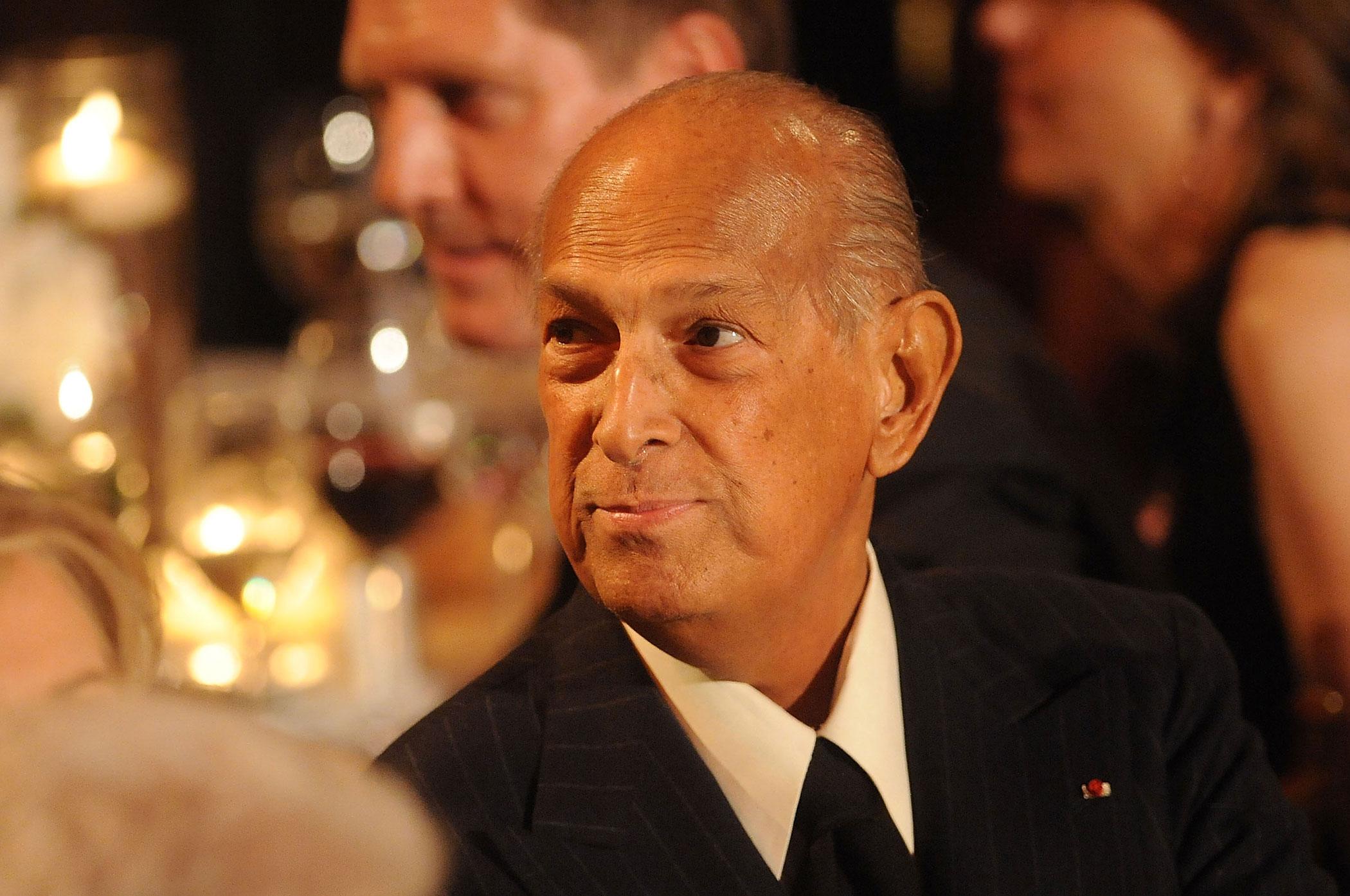 Designer Oscar de la Renta attends the 2014 Carnegie Hall Medal Of Excellence Gala Honoring Oscar De La Renta at The Plaza Hotel on April 24, 2014 in New York City.
