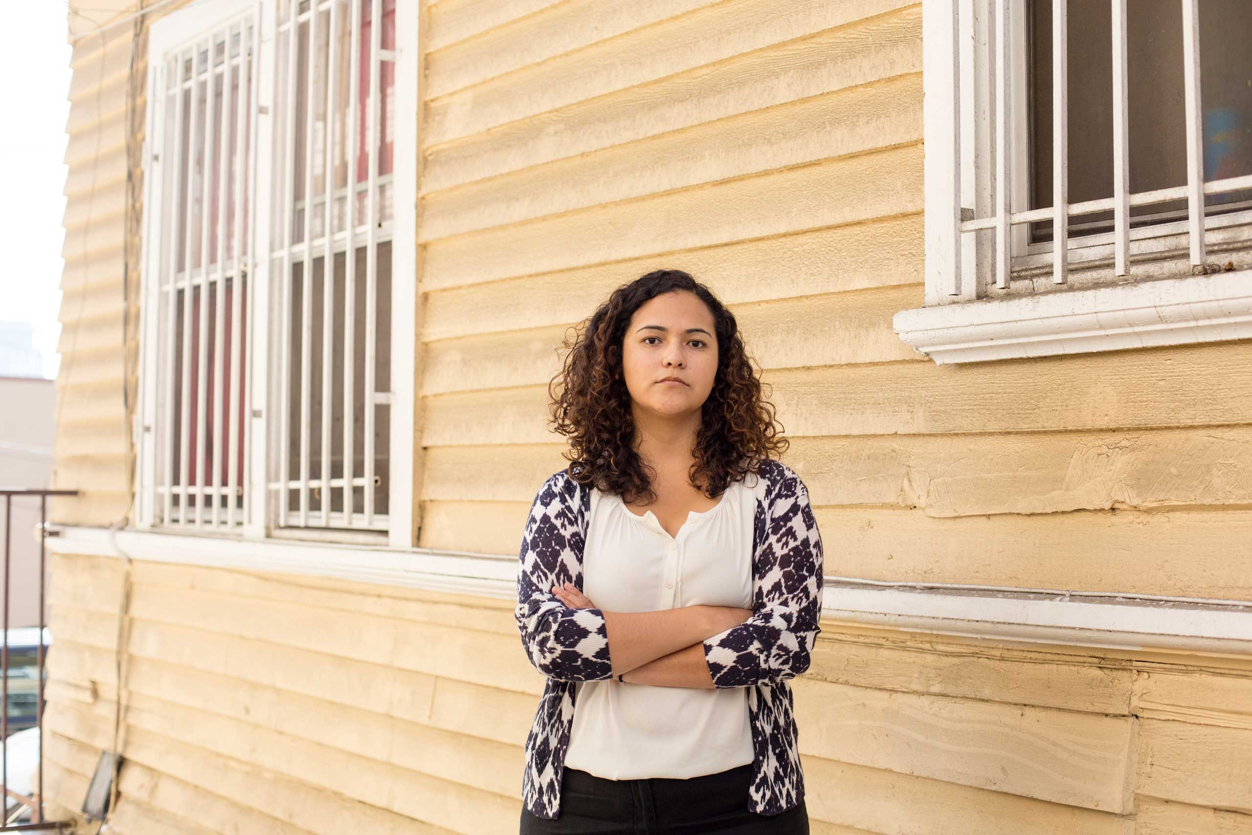 Patricia Ortiz near her office win Los Angles, CA, Wednesday Oct 1,2014. (Photo by Annie Tritt)