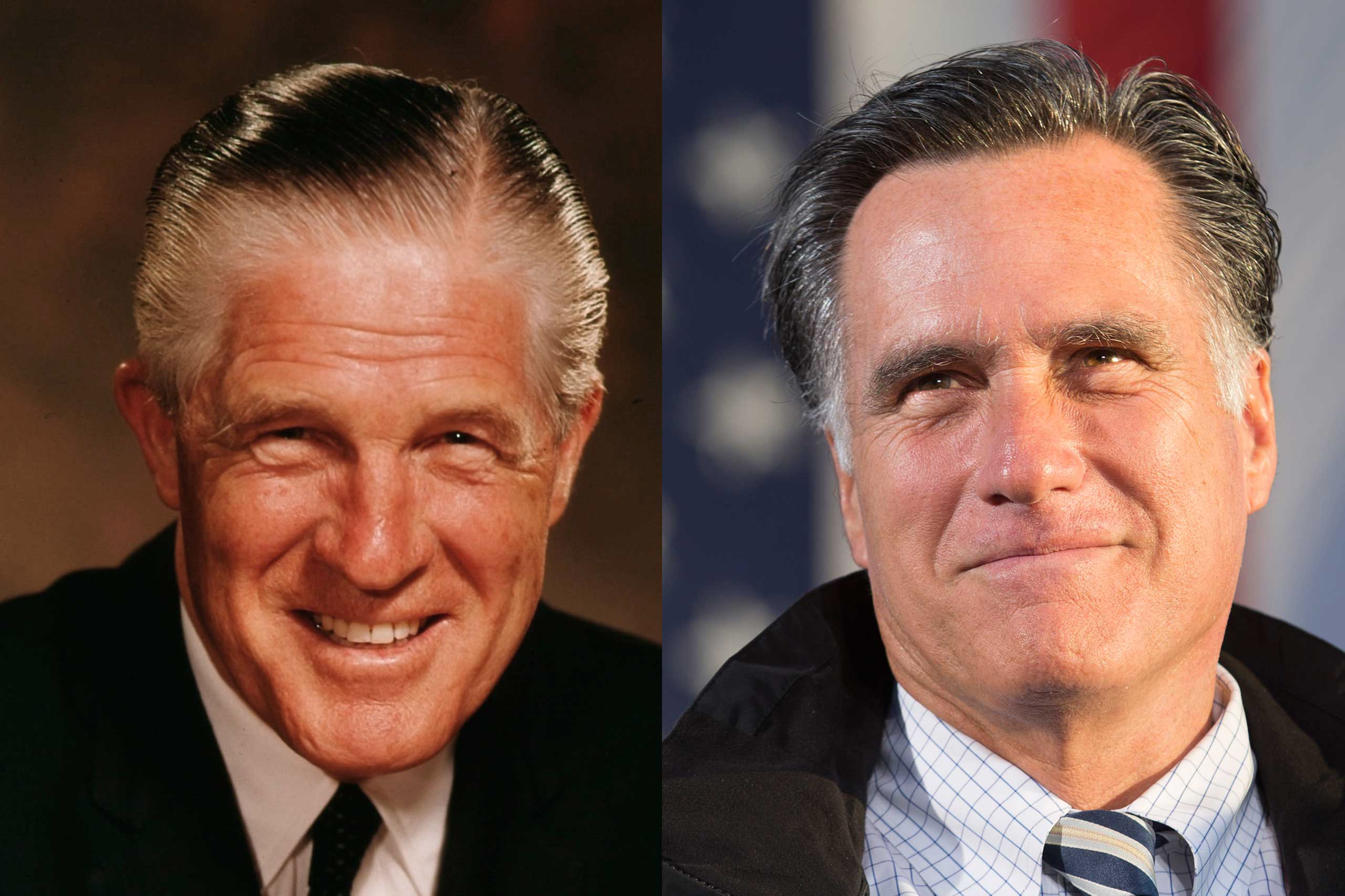 Both George Romney and his son Mitt rose to national political prominence but neither held the top job. The elder Romney, who served as Governor of Michigan, ran unsuccessfully for the GOP nomination in 1968. Mitt Romney served as Governor of Massachusetts and secured the Republican presidential nomination in 2012. He was defeated in the general election.