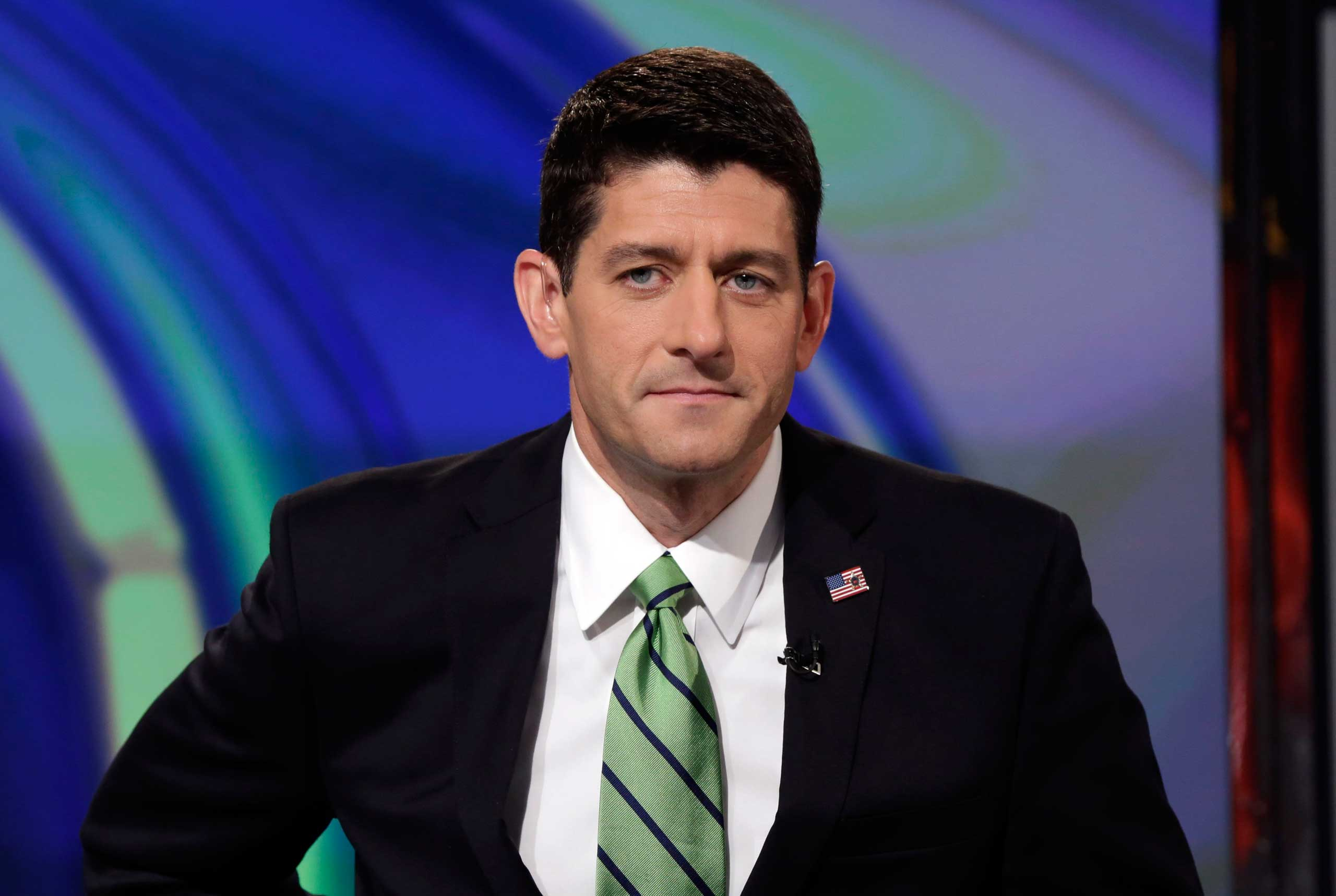 Rep. Paul Ryan, R-Wisc., is interviewed by Maria Bartiromo during her  Opening Bell With Maria Bartiromo  program on the Fox Business Network, in New York City on Sept. 29, 2014.
