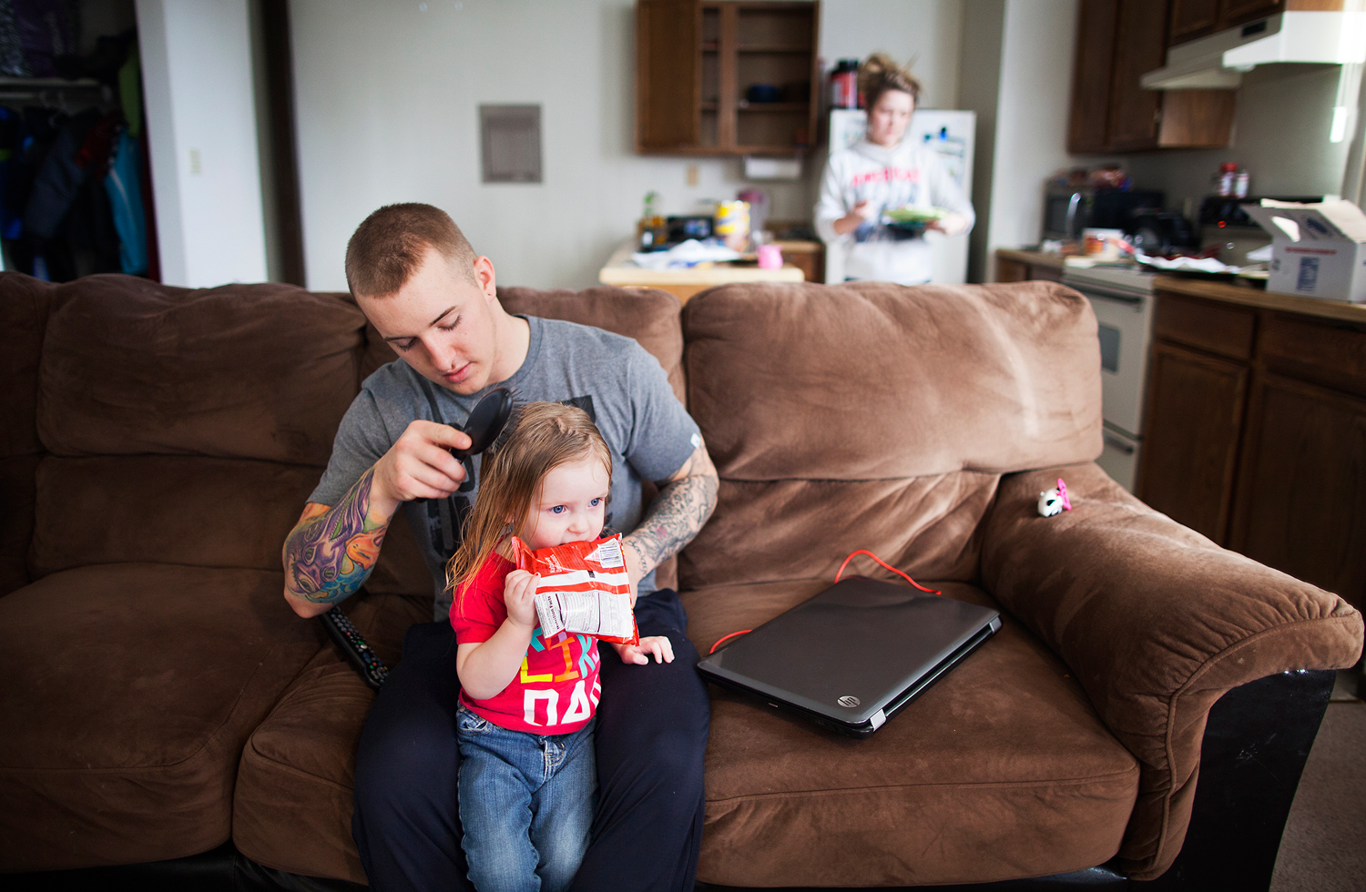Because of his deployment and his period of separation from Maggie, Zane had only met his daughter Memphis once before she moved into his home in Alaska. He has embraced his new responsibilities as a father.