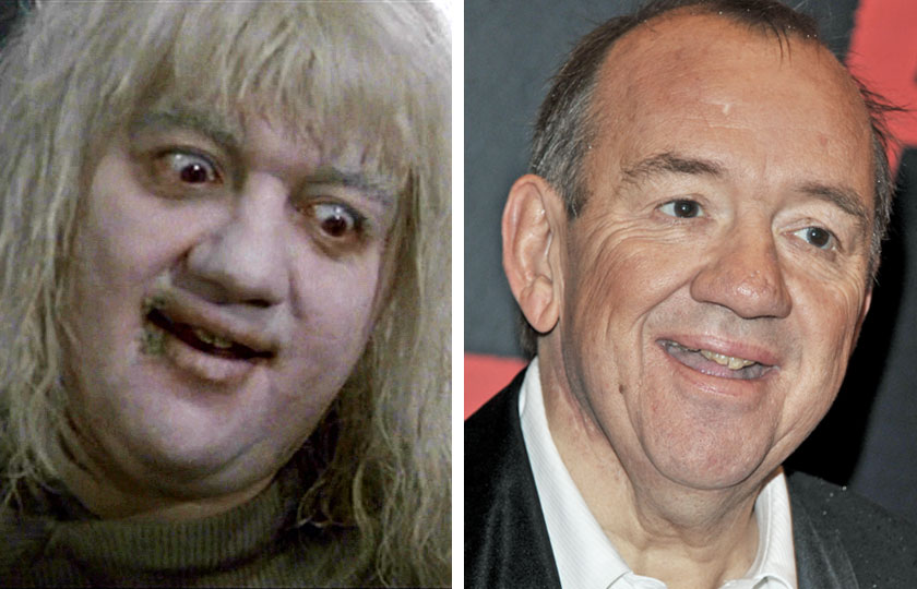 Left, Mel Smith as The Albino in The Princess Bride, 1987; At right, Mel Smith in 2010.