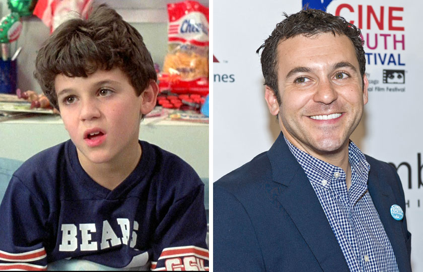 Left, Fred Savage as The Grandson in The Princess Bride, 1987; At right, Fred Savage in 2014.