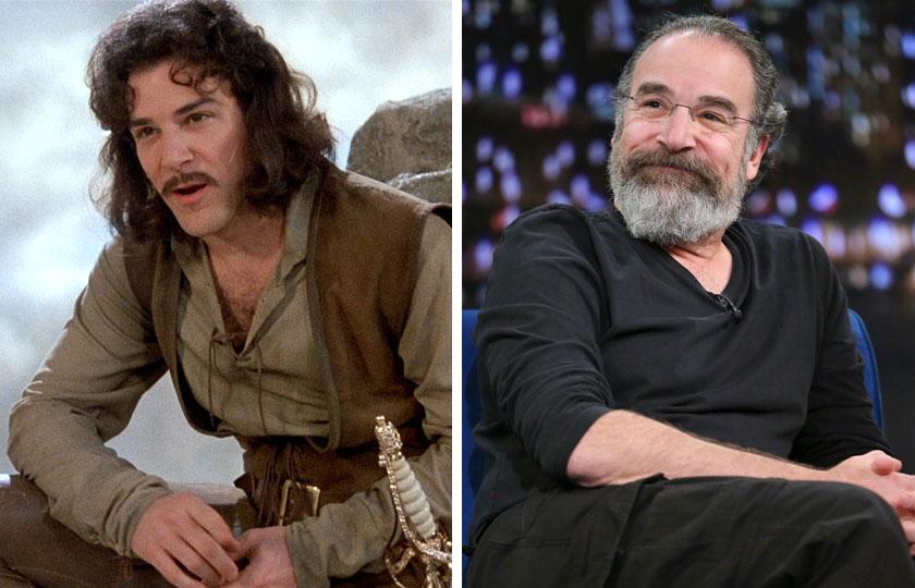 Left, Mandy Patinkin as Inigo Montoya in The Princess Bride, 1987; At right, Mandy Patinkin in 2014.