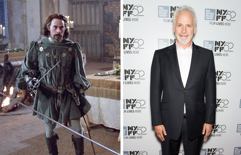 Left, Christopher Guest as Count Tyrone Rugen in The Princess Bride, 1987; At right, Christopher Guest in 2014.