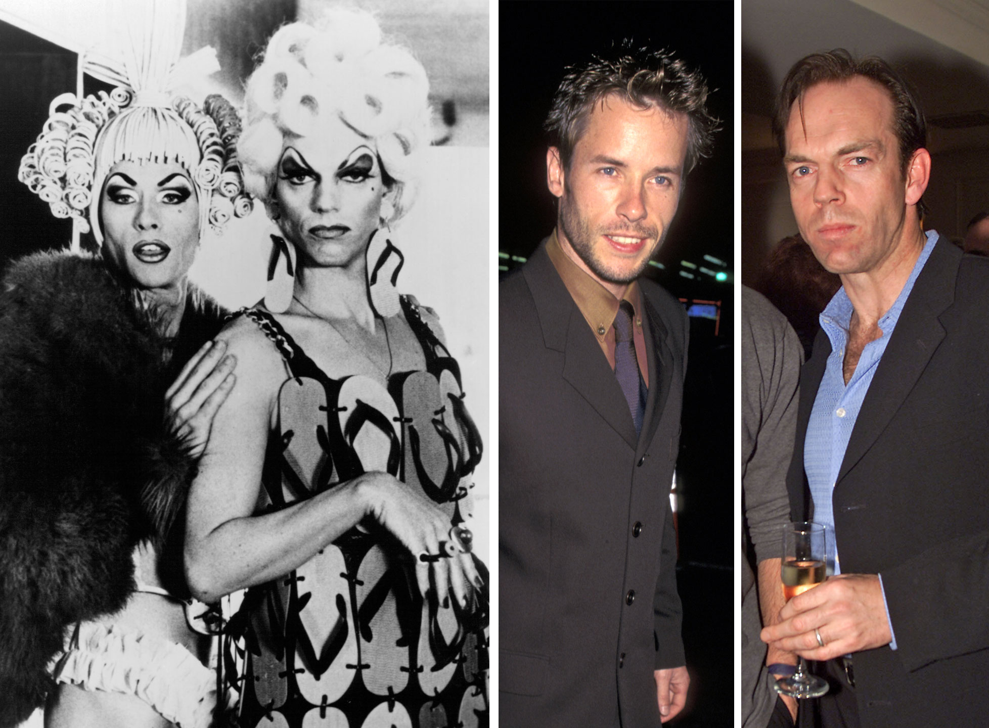 Guy Pearce as Felicia Jollygoodfellow and Hugo Weaving as Mitzi Del Bra in The Adventures of Priscilla, Queen of the Desert