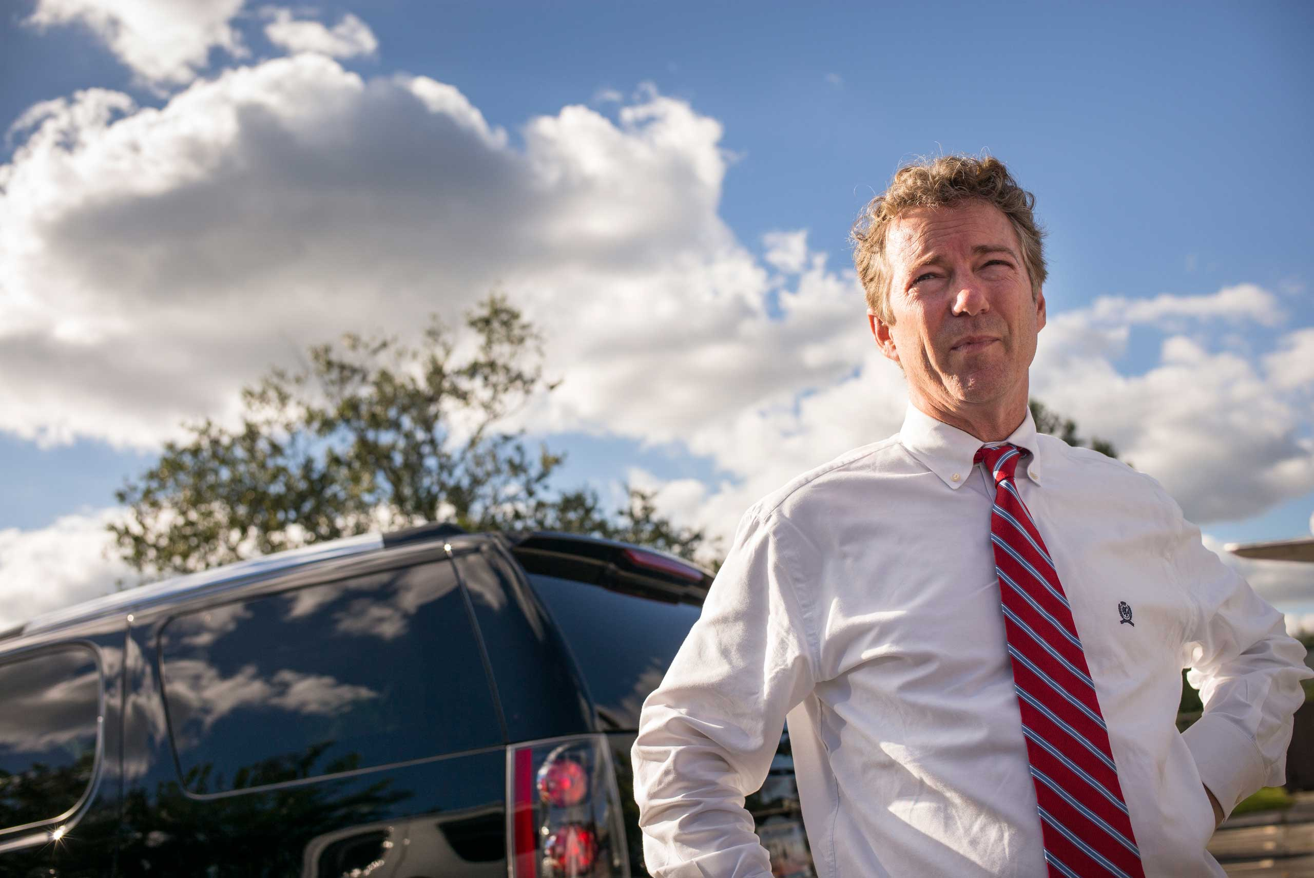 Senator Rand Paul talks to voters at the Horry County Republican Party in Myrtle Beach, S.C. on Sept. 30th, 2014.