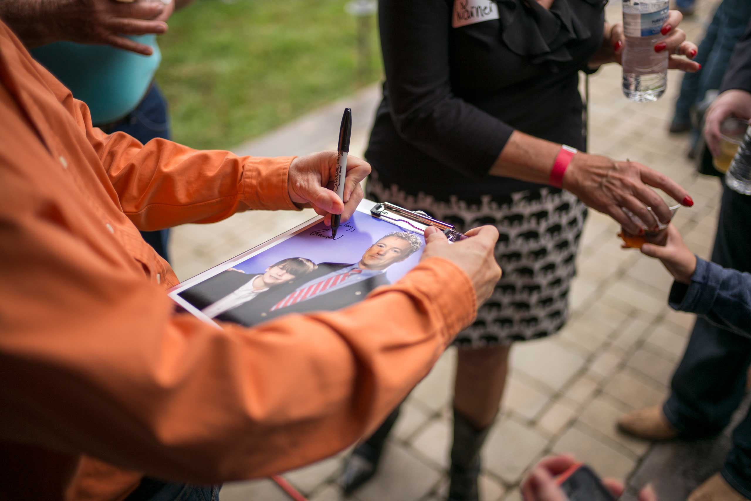 Senator Rand Paul attends a BBQ event at the Donnelly Barn in Bowling Green, Ky. on Oct. 12th, 2014.