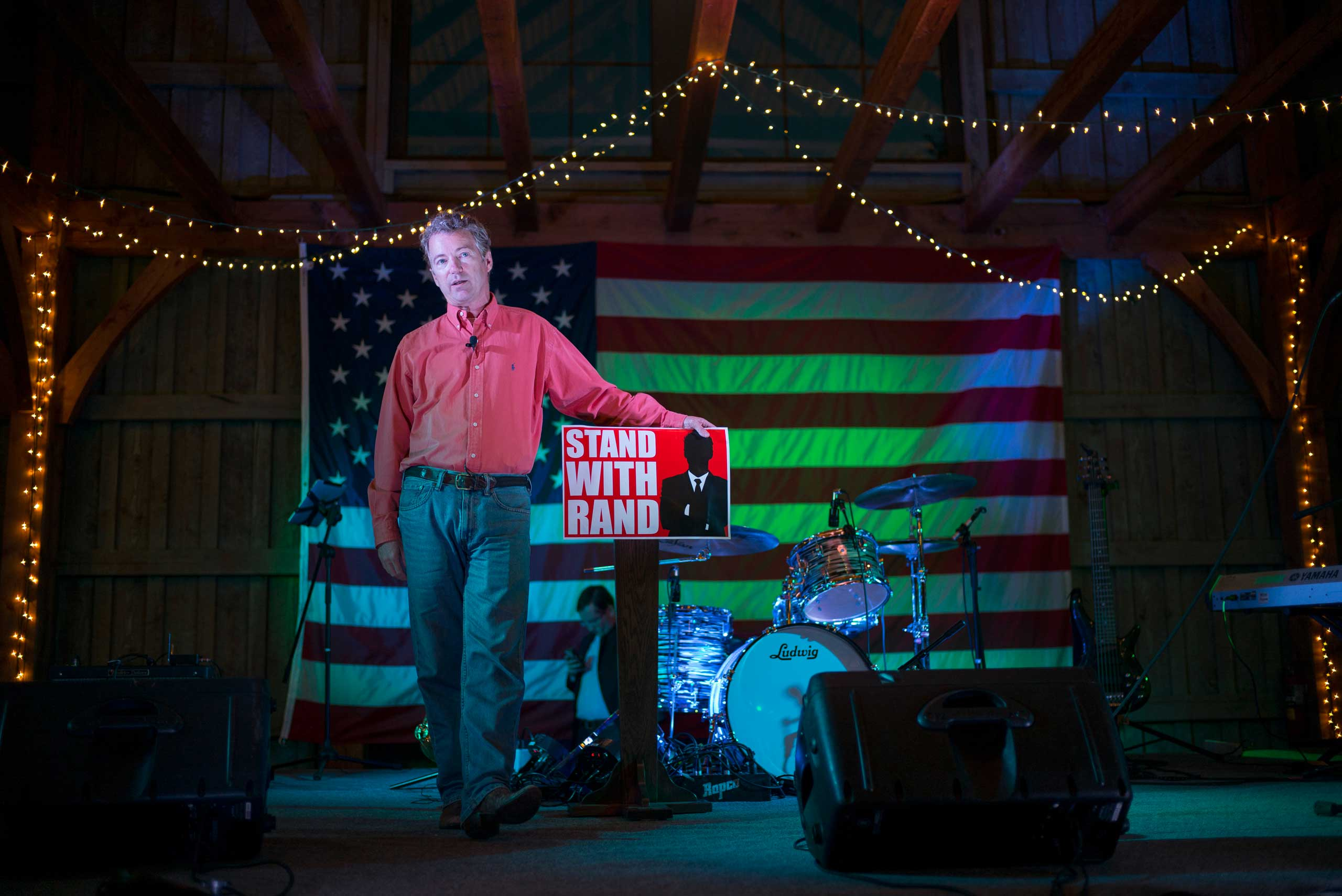 Senator Rand Paul speaks at a BBQ event at the Donnelly Barn in Bowling Green, Ky. on Oct. 12th, 2014.