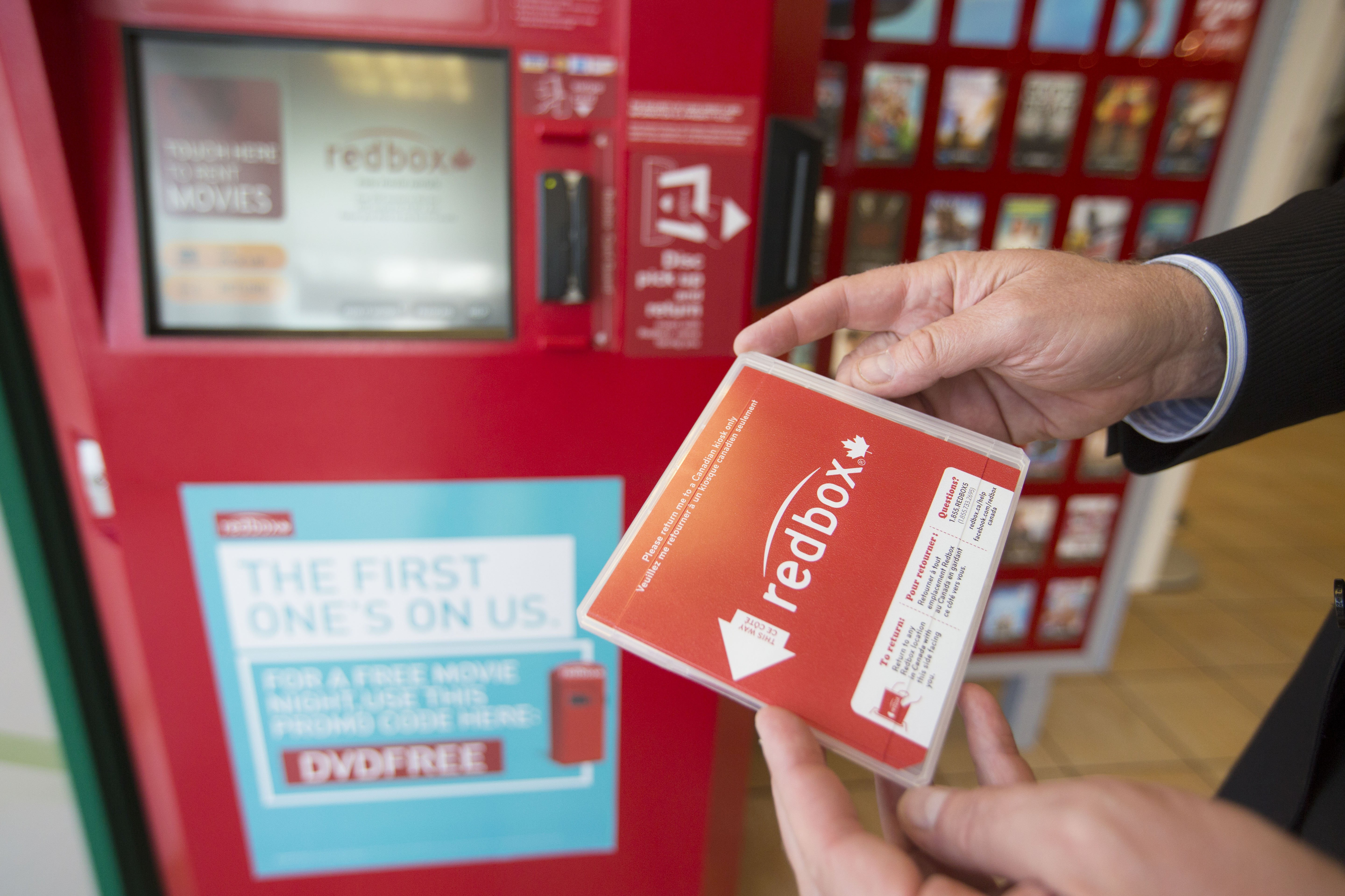 Redbox in Toronto, Canada on Aug. 26, 2014.