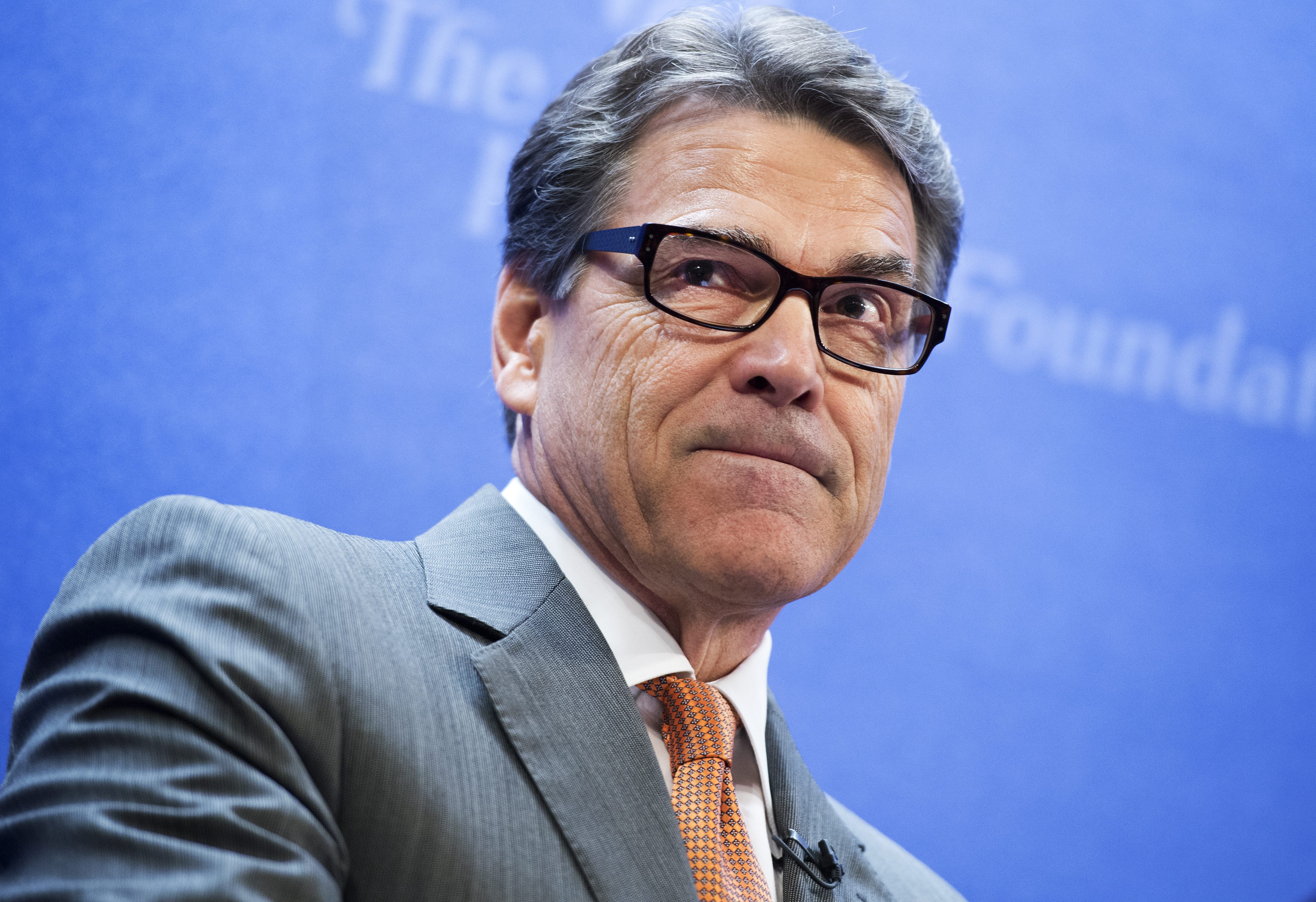 Republican Gov. Rick Perry of Texas,  delivers the keynote address at a Heritage Foundation event titled  The Border Crisis and New Politics of Immigration,  August 21, 2014.