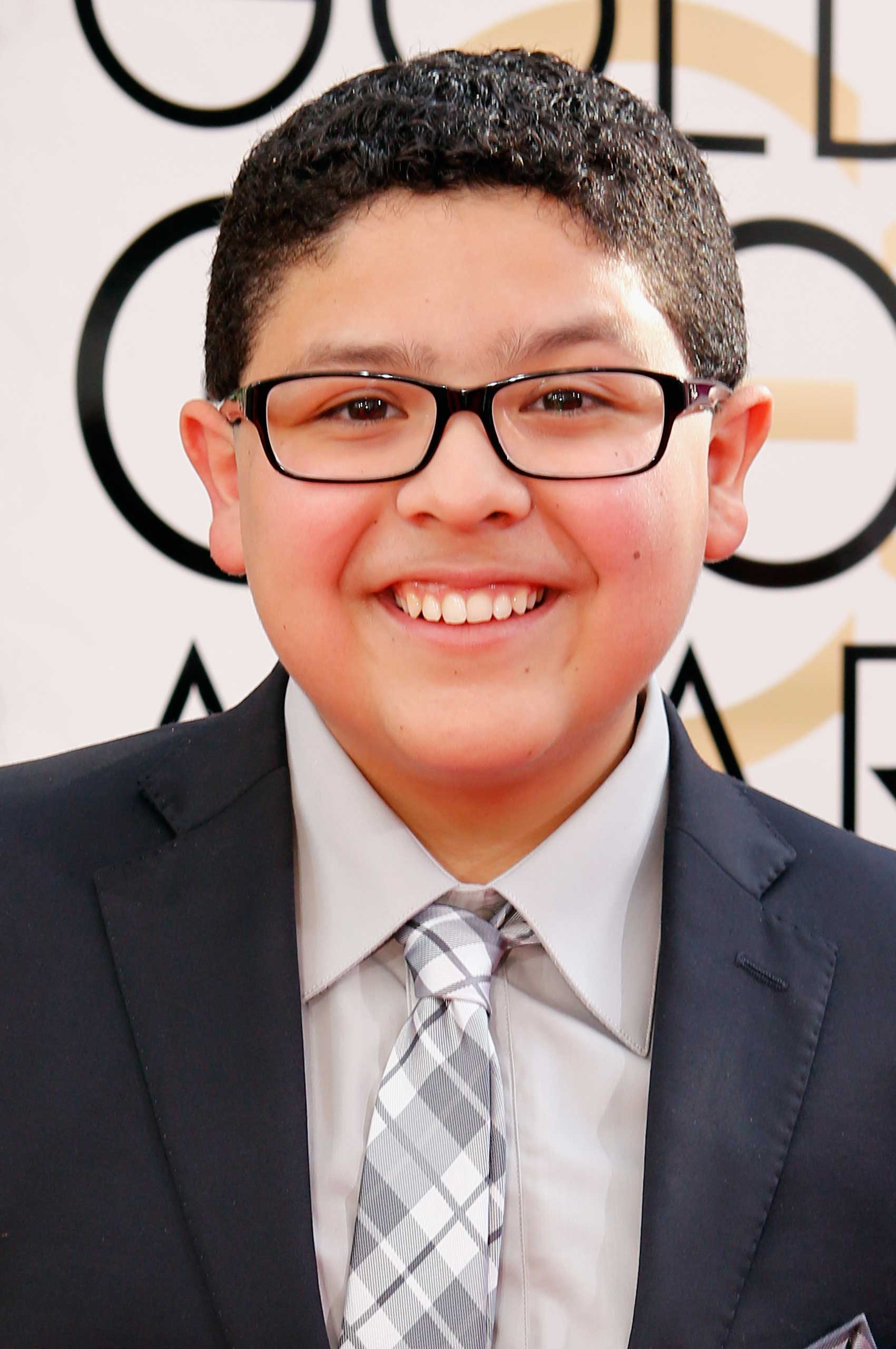 Actor Rico Rodriguez arrives to the 71st Annual Golden Globe Awards held at the Beverly Hilton Hotel on January 12, 2014 -- (Photo by Trae Patton/NBC/NBC via Getty Images)