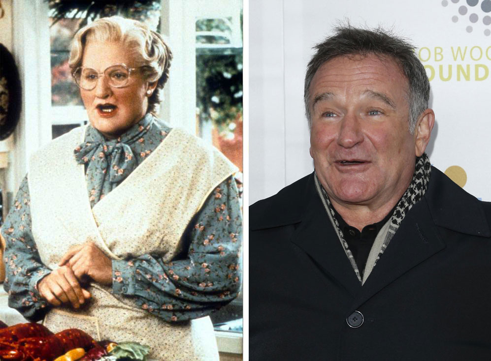 Robin Williams as Mrs. Doubtfire in Mrs. Doubtfire