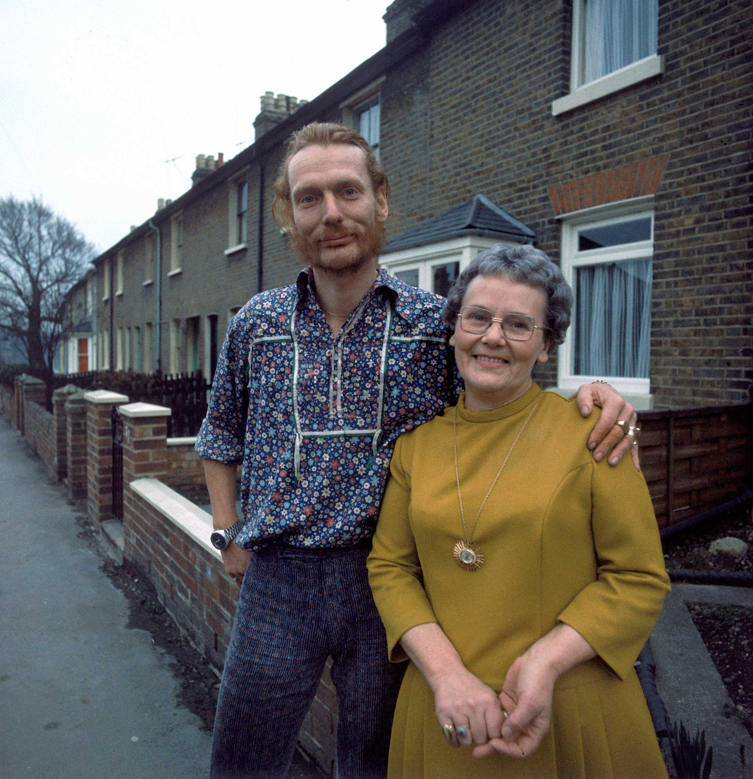 Ginger Baker and his mum, 1970.