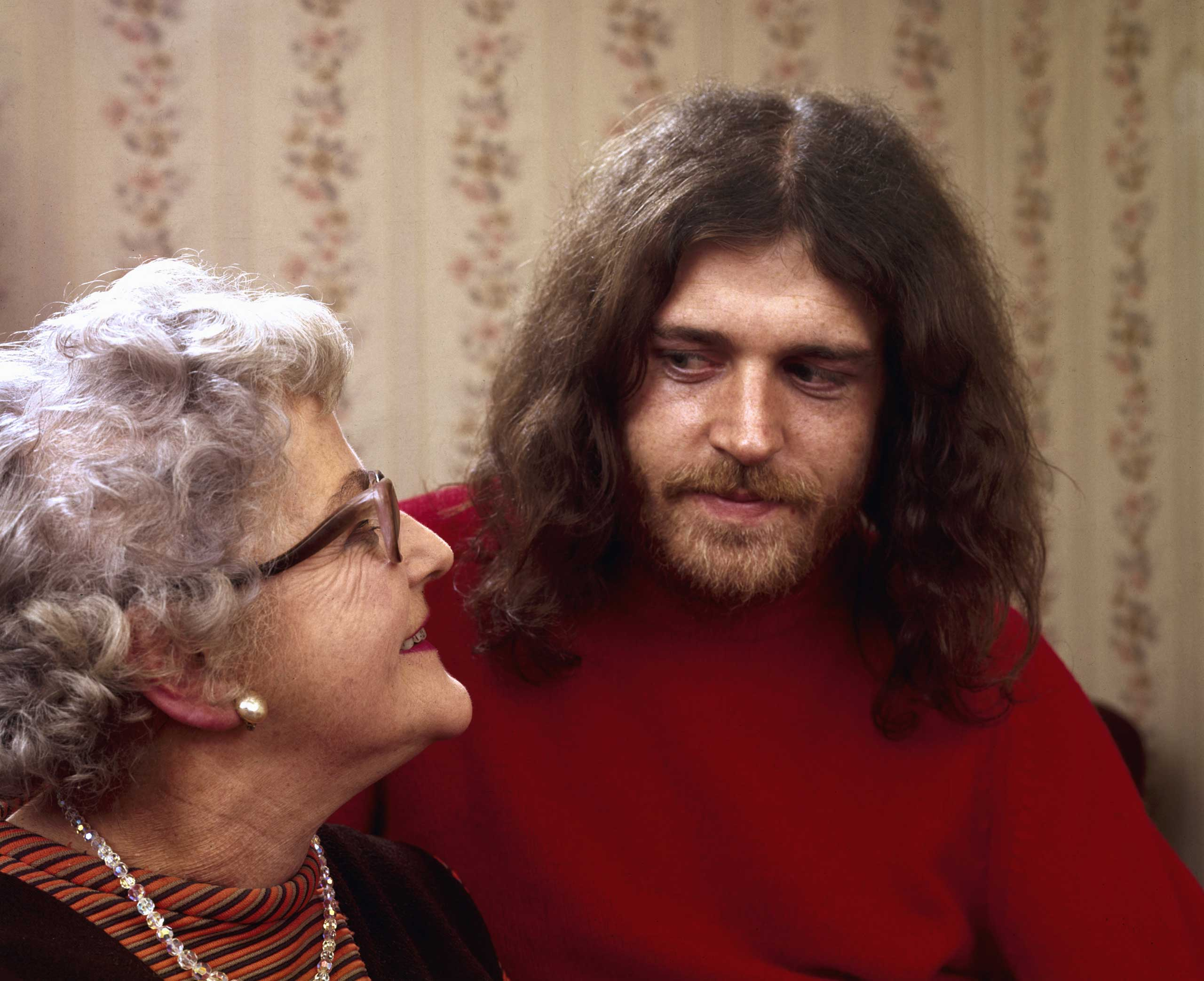 Joe Cocker with his mother, 1970.