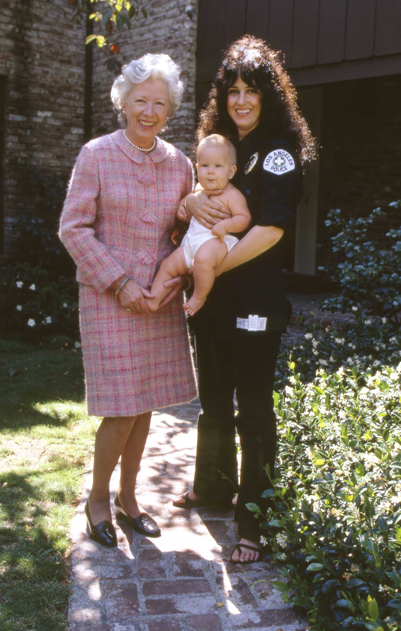 "Grace steps outside with her mom and little China in 1971. ""Things change so fast, you can't use 1971 ethics on someone born in 1971,"" Slick said of her daughter. ""Whatever she does is going to look far-out to me. I hope I'll either like it or keep my mouth shut."""