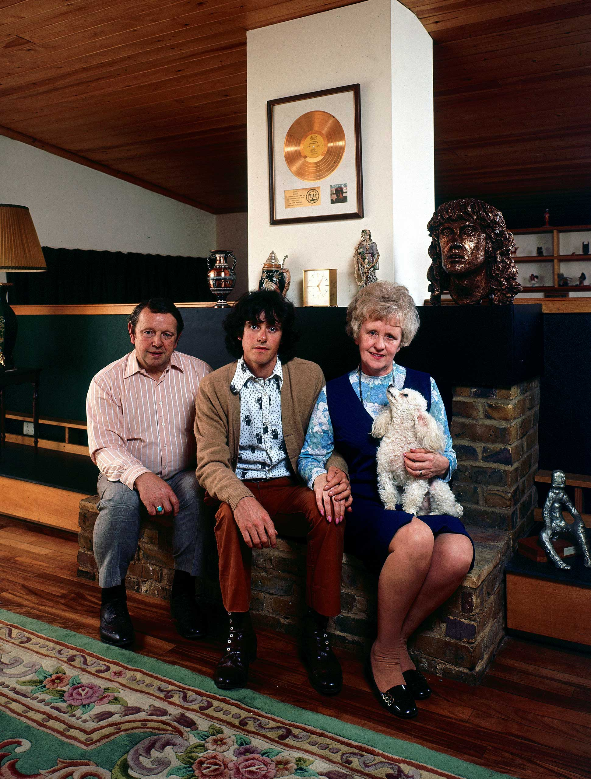 <b>Not published in LIFE.</b> Scottish folk musician Donovan and his parents, Donald and Winifred Leitch, England in 1970.