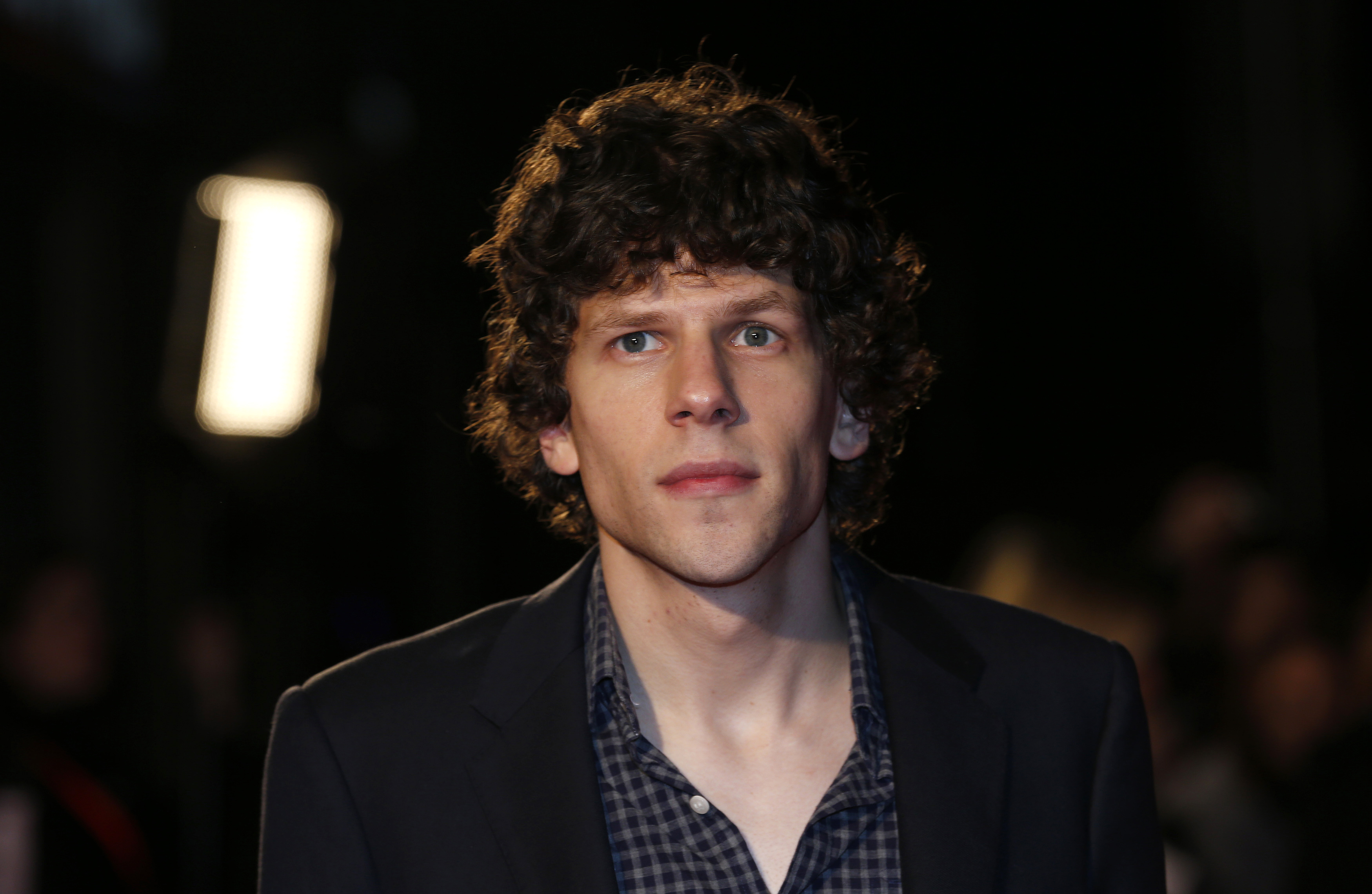 Cast member Jesse Eisenberg arrives for the European premiere of  The Double  at the London Film Festival, at the Odeon West End, in central London October 12, 2013.