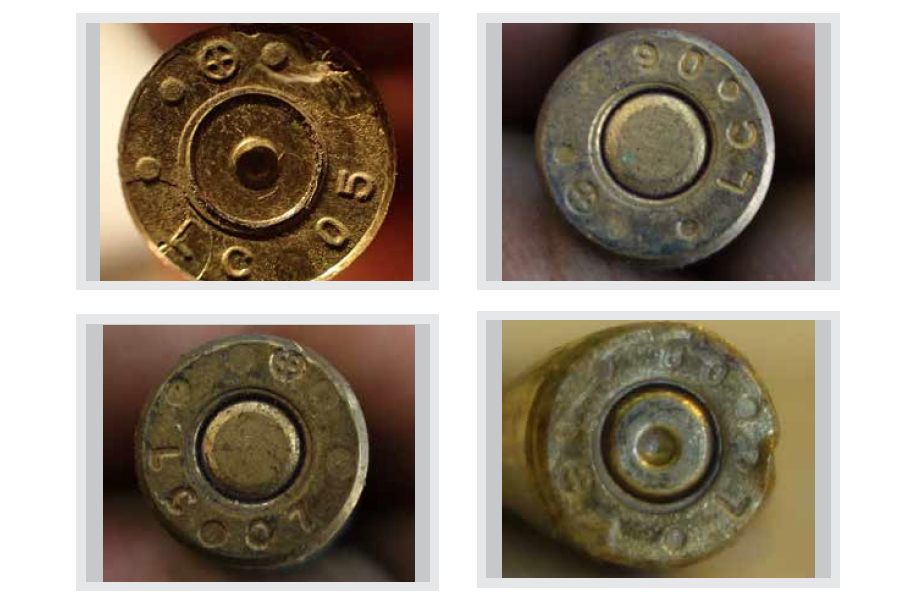 These four rifle cartridges were made in 2005, 2006, 2007 and 2008 at the U.S.-government owned Lake City Army Ammunition Plant in Independence, Mo., before falling into ISIS hands, according to a new report.