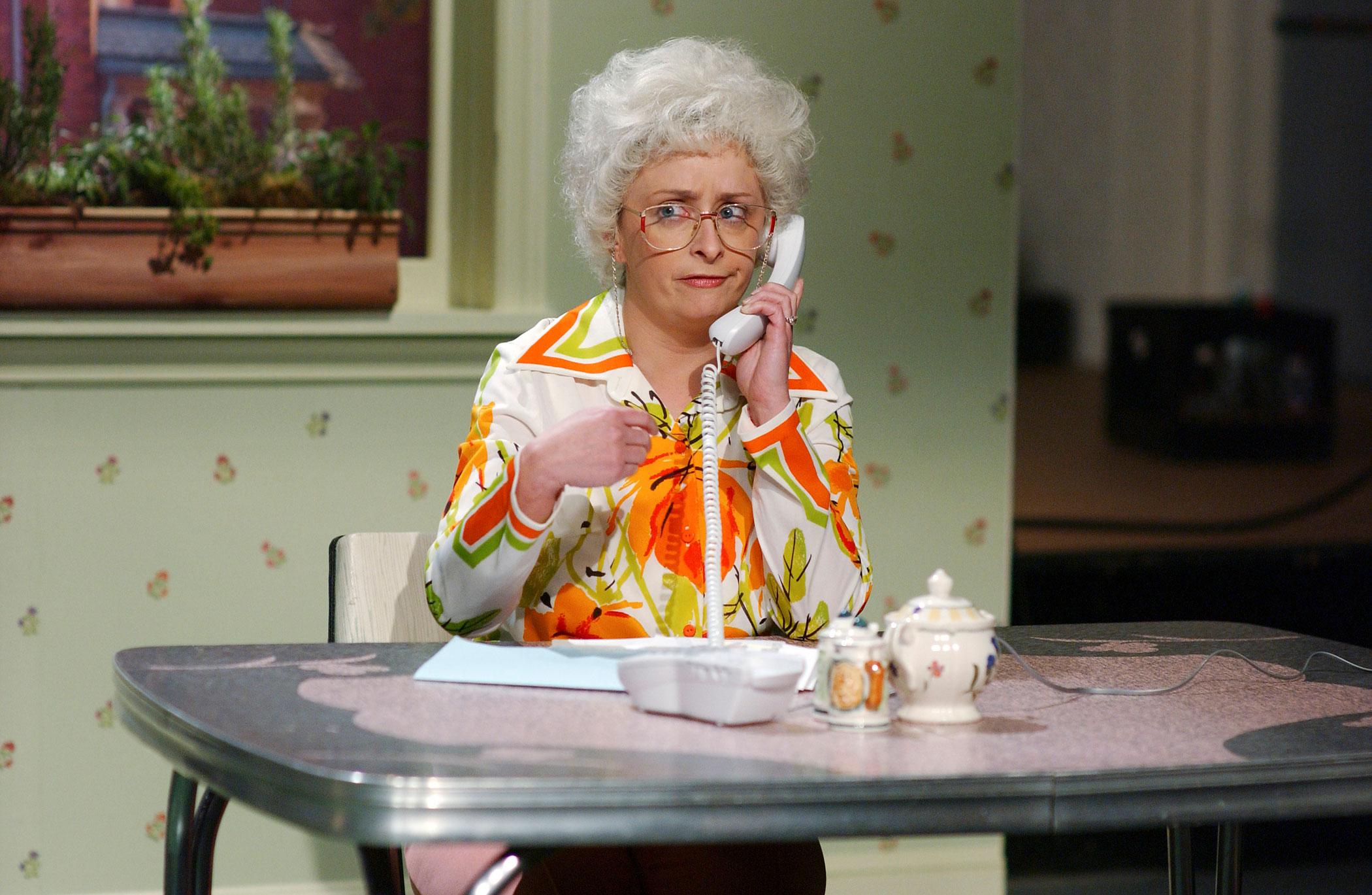 Rachel Dratch as Peg during the Elderly Wiretap skit on Jan. 21, 2006.